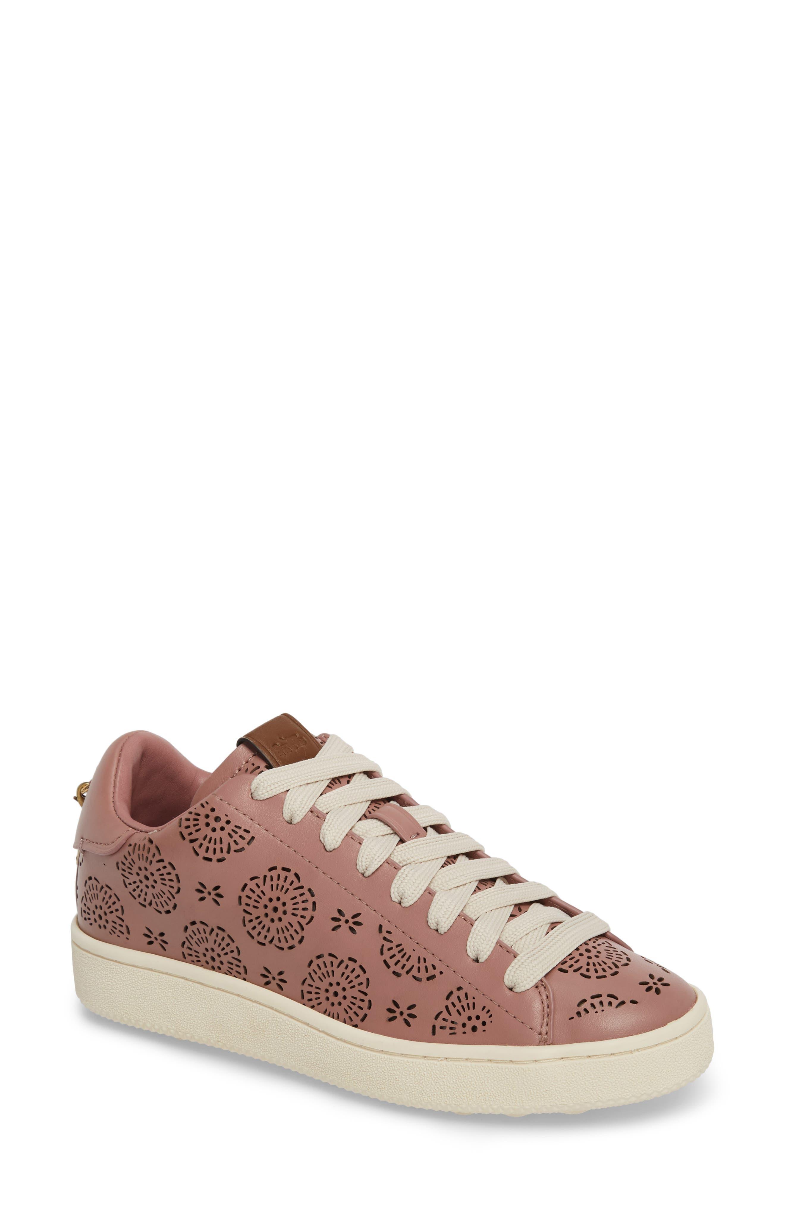COACH Cutout Tea Rose Sneaker (Women)