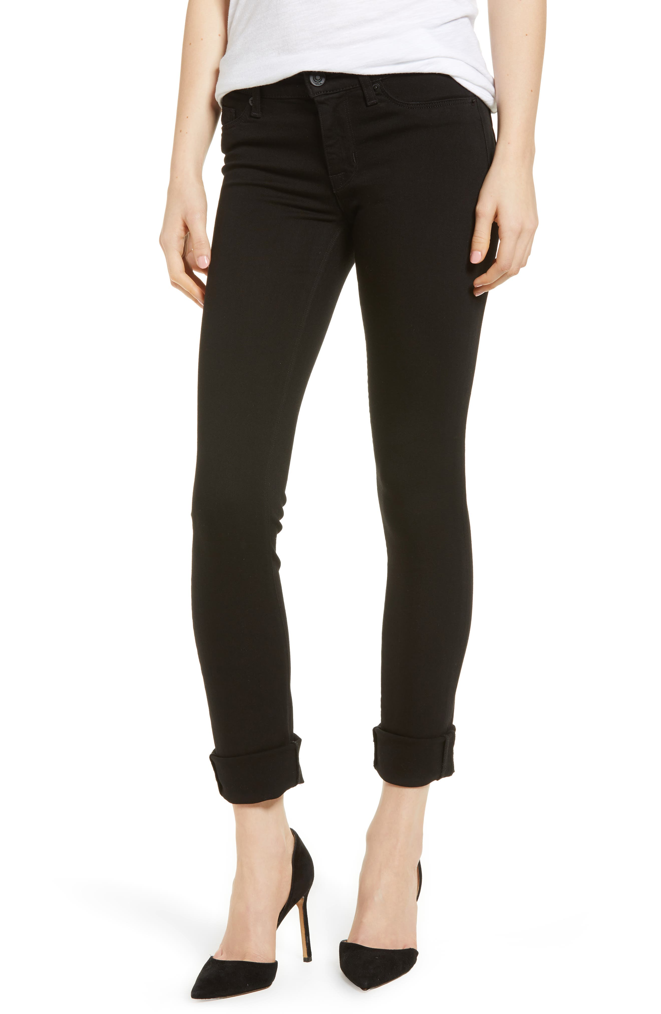 Tally Crop Skinny Jeans,                             Main thumbnail 1, color,                             Black