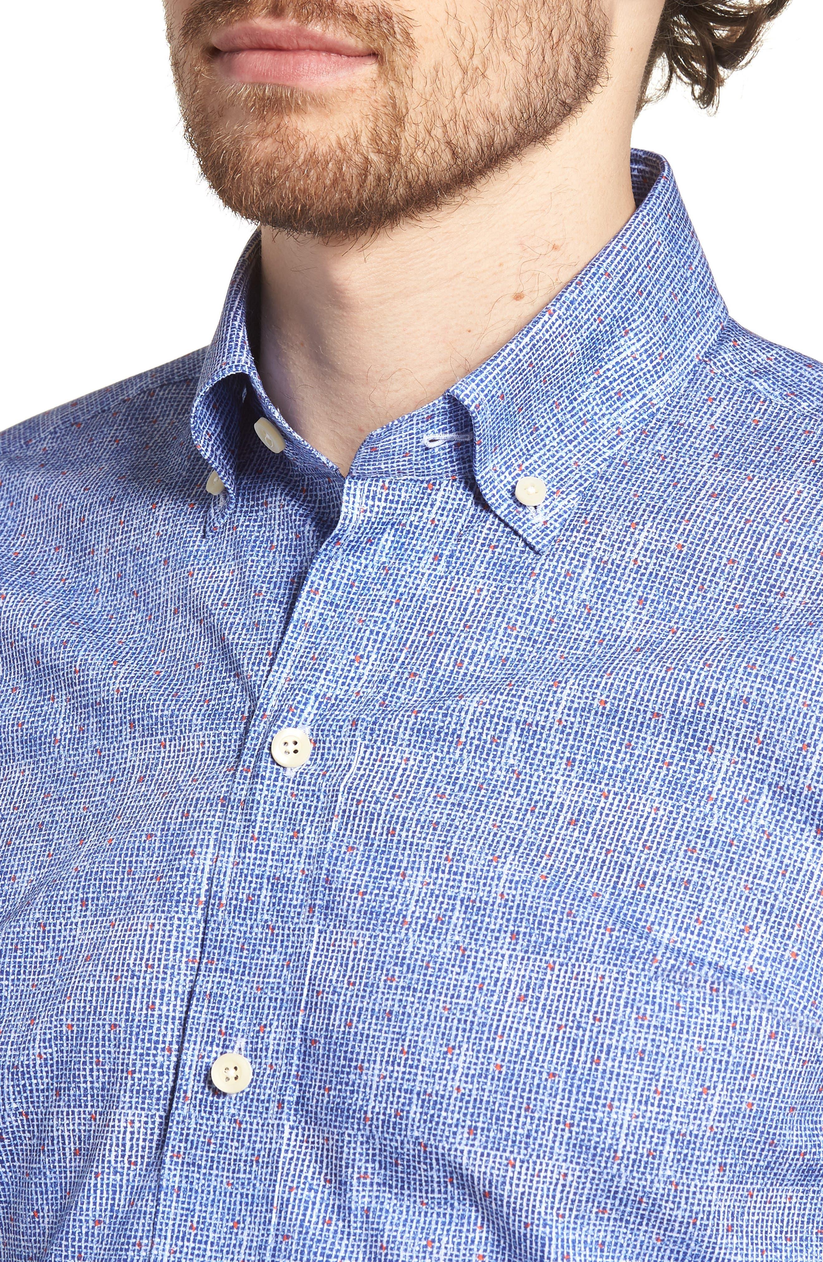 Normand Slim Fit Check Dress Shirt,                             Alternate thumbnail 2, color,                             Blue