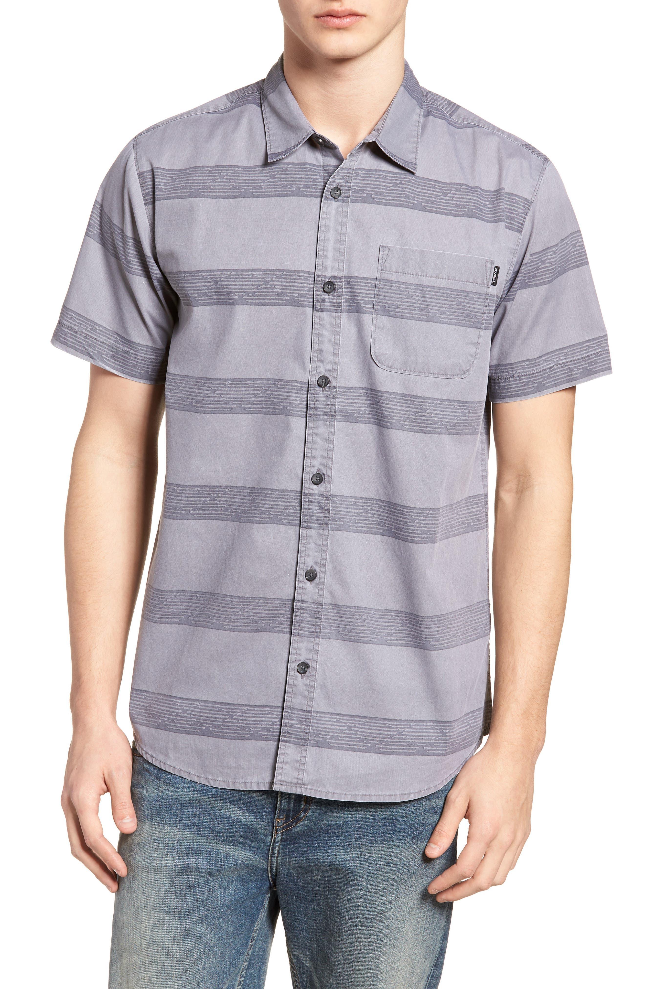 Wagner Woven Shirt,                         Main,                         color, Fog