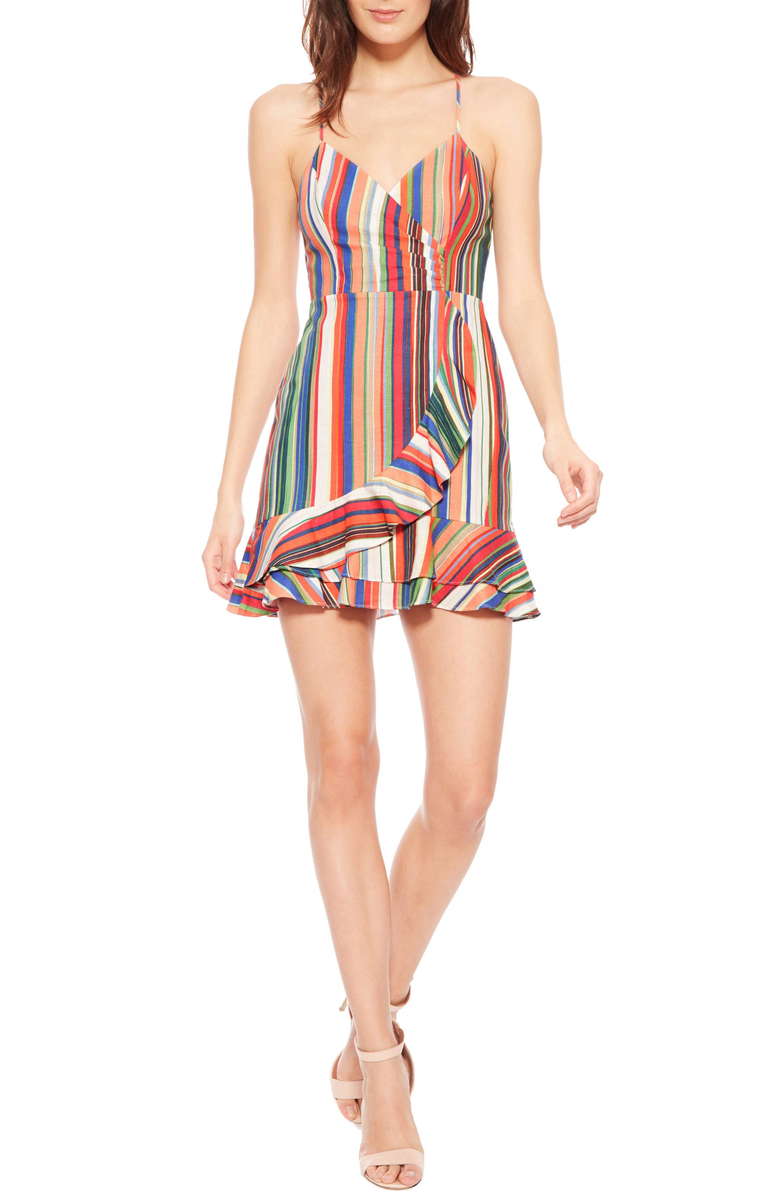 Jay Stripe Dress,                             Main thumbnail 1, color,                             Amalfi Stripe