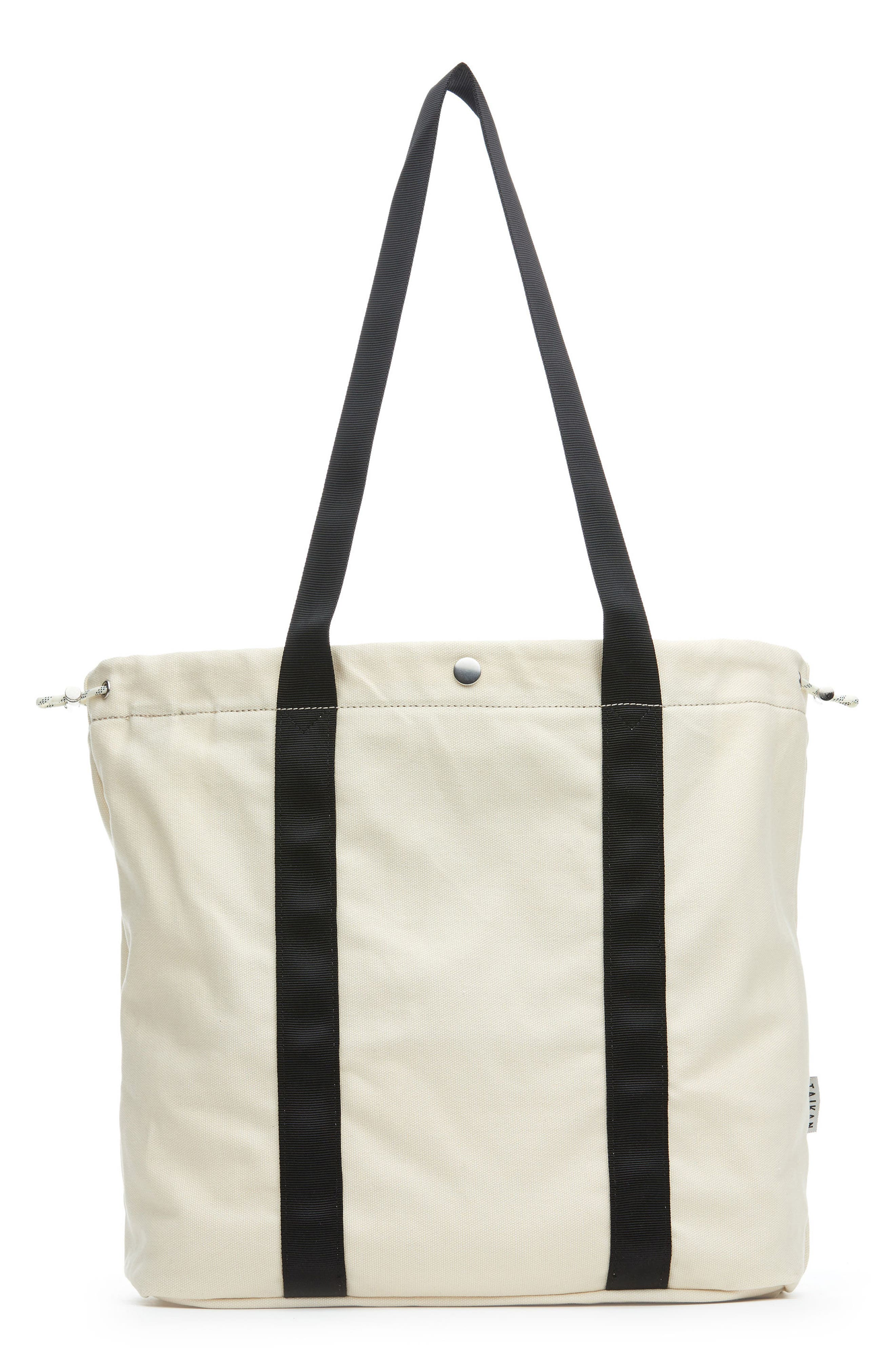 Flanker Tote Bag,                         Main,                         color, Natural Cotton