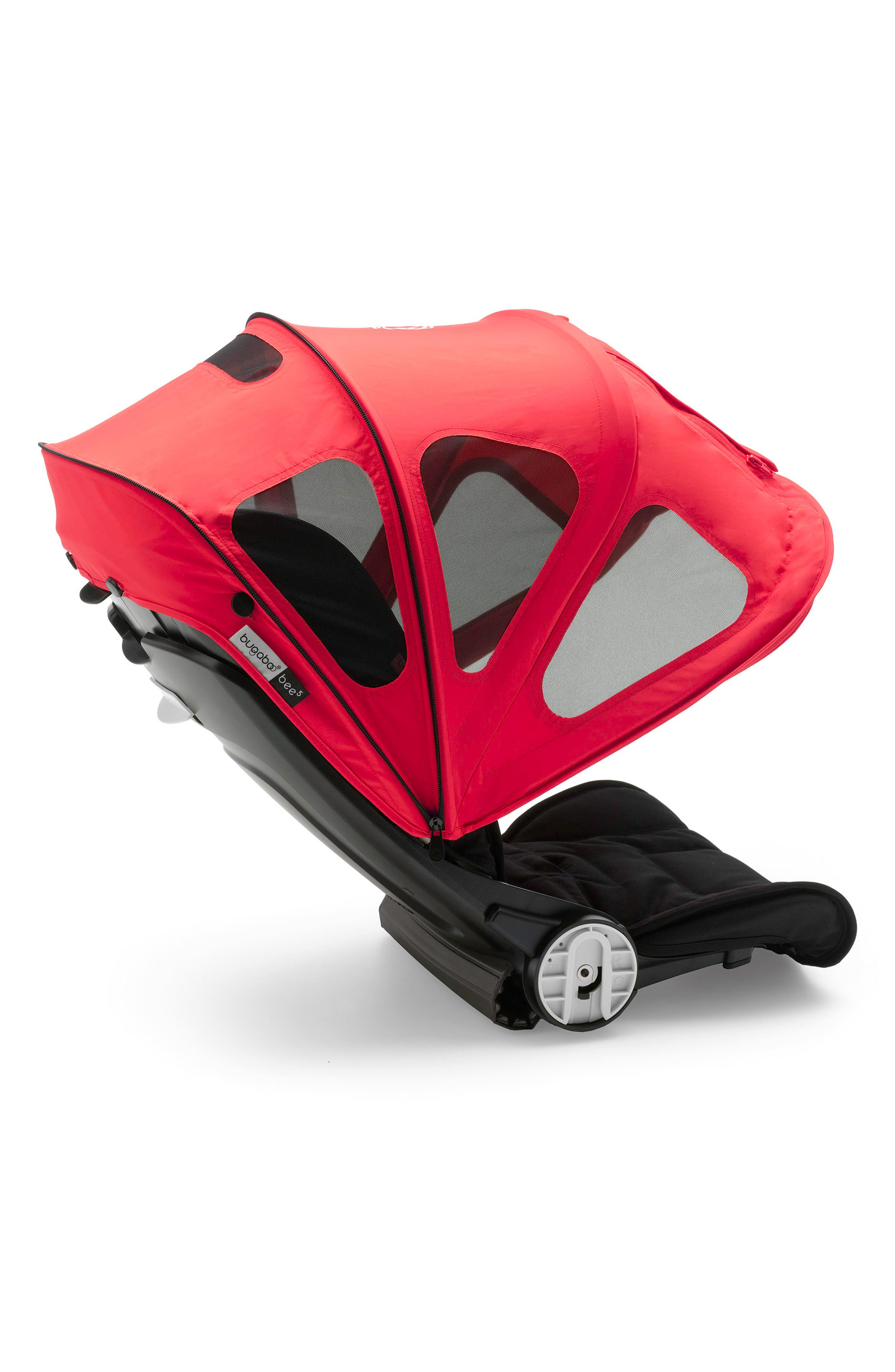 Breezy Sun Canopy for Bugaboo Bee Strollers,                             Alternate thumbnail 3, color,                             Neon Red