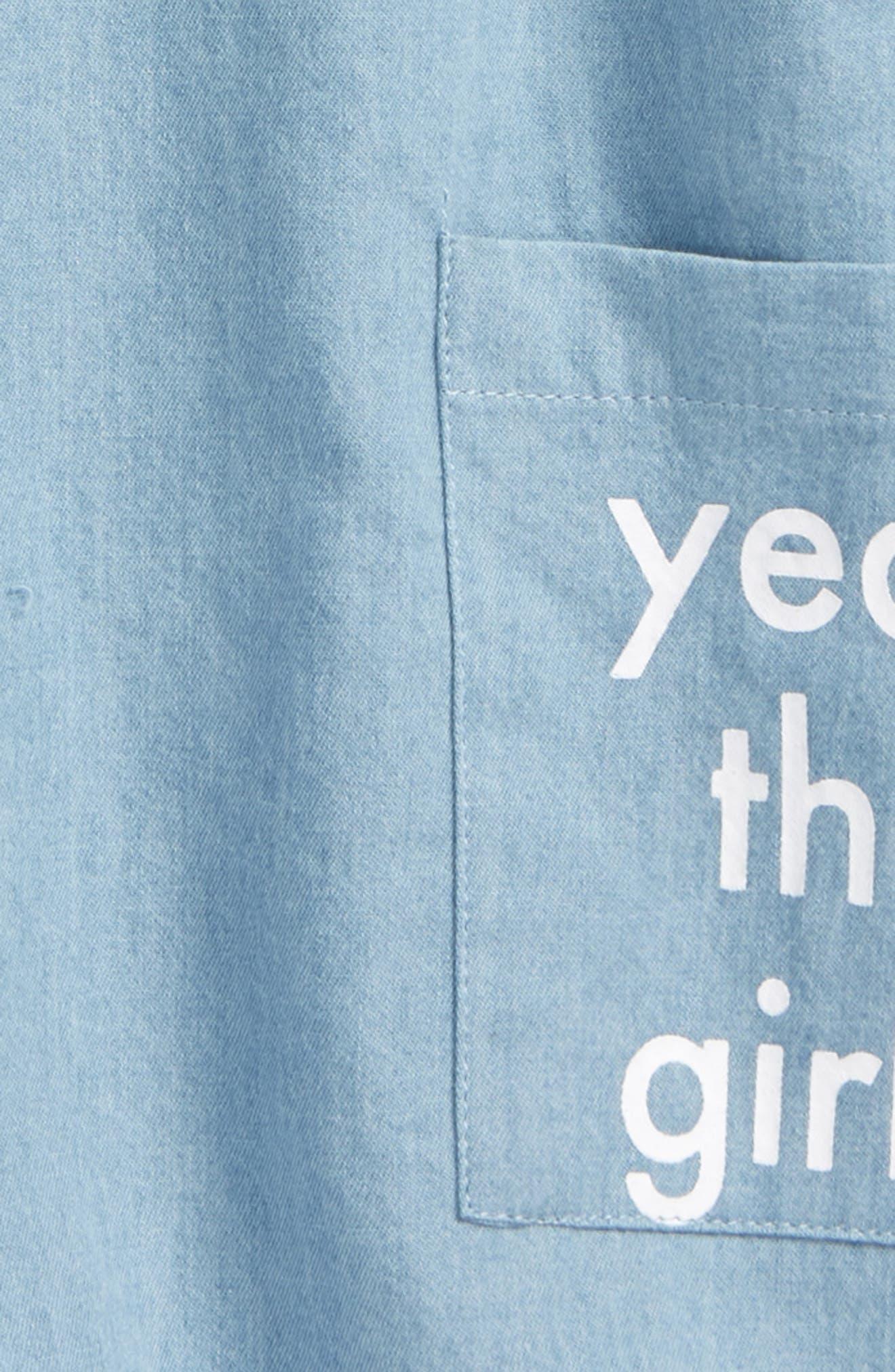 Yeah the Girls Chambray Dress,                             Alternate thumbnail 2, color,                             Chambray