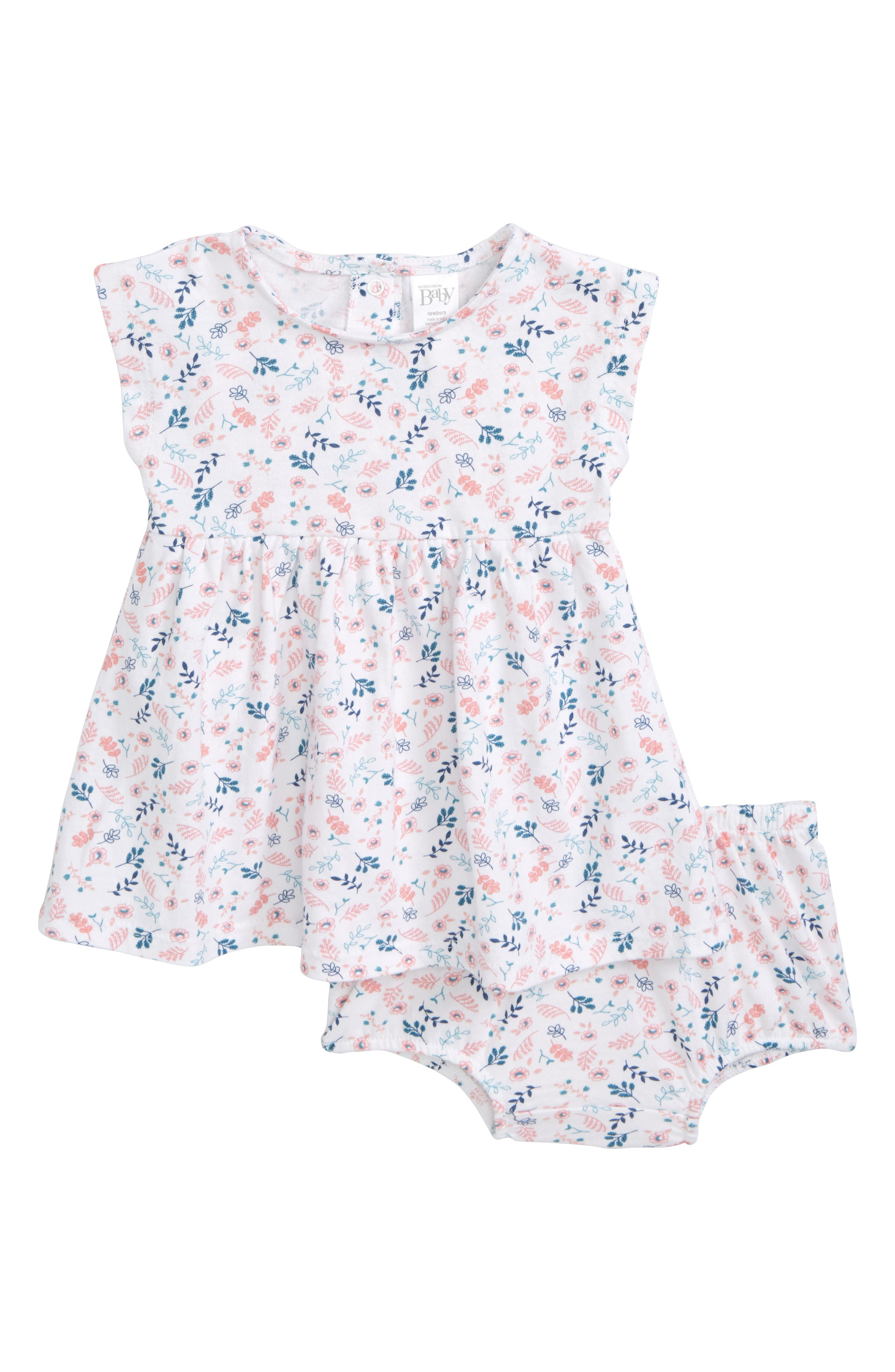 Nordstrom Baby Print Knit Dress (Baby Girls)