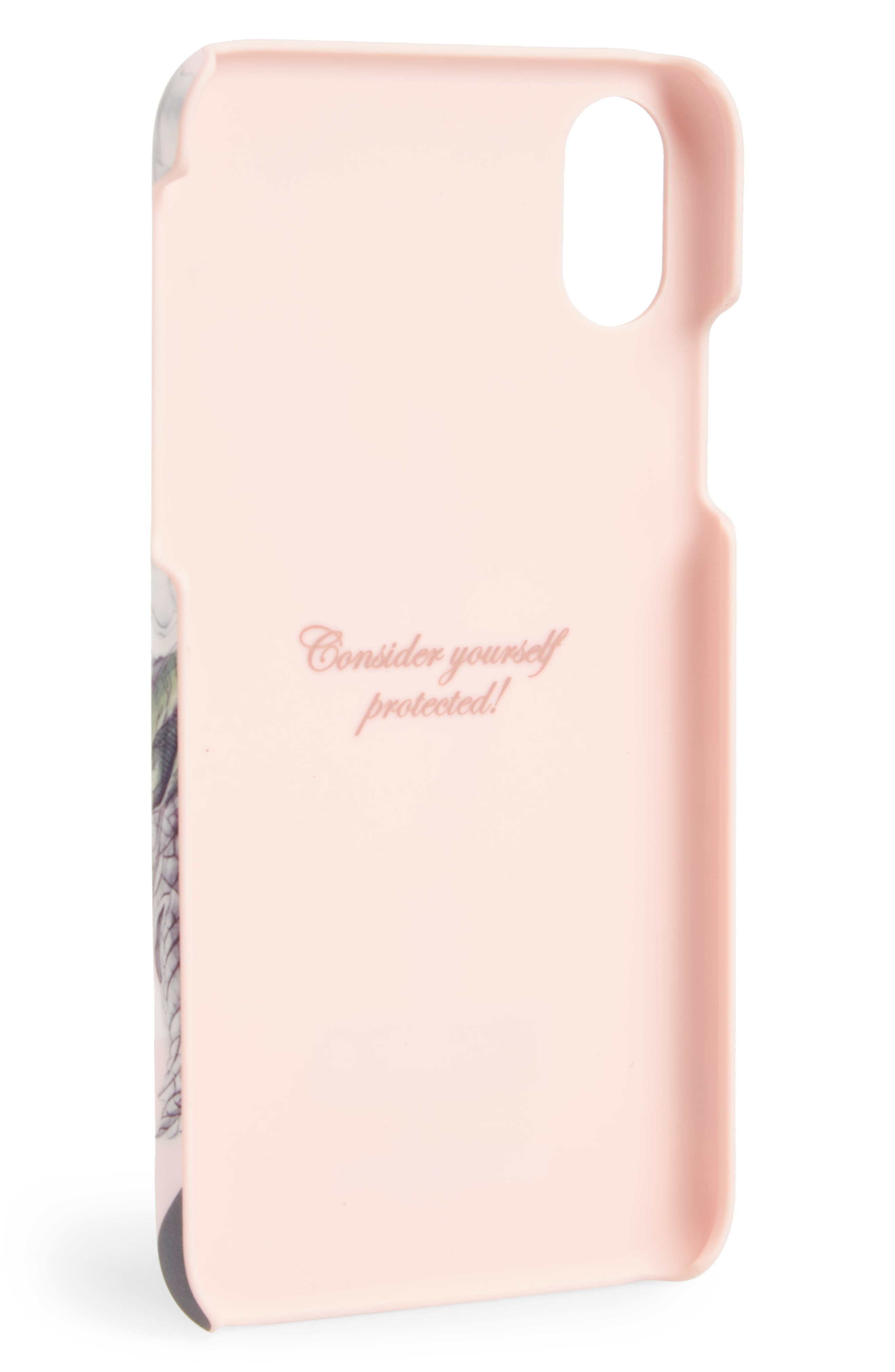 Palace Gardens iPhone X Case,                             Alternate thumbnail 2, color,                             Pink