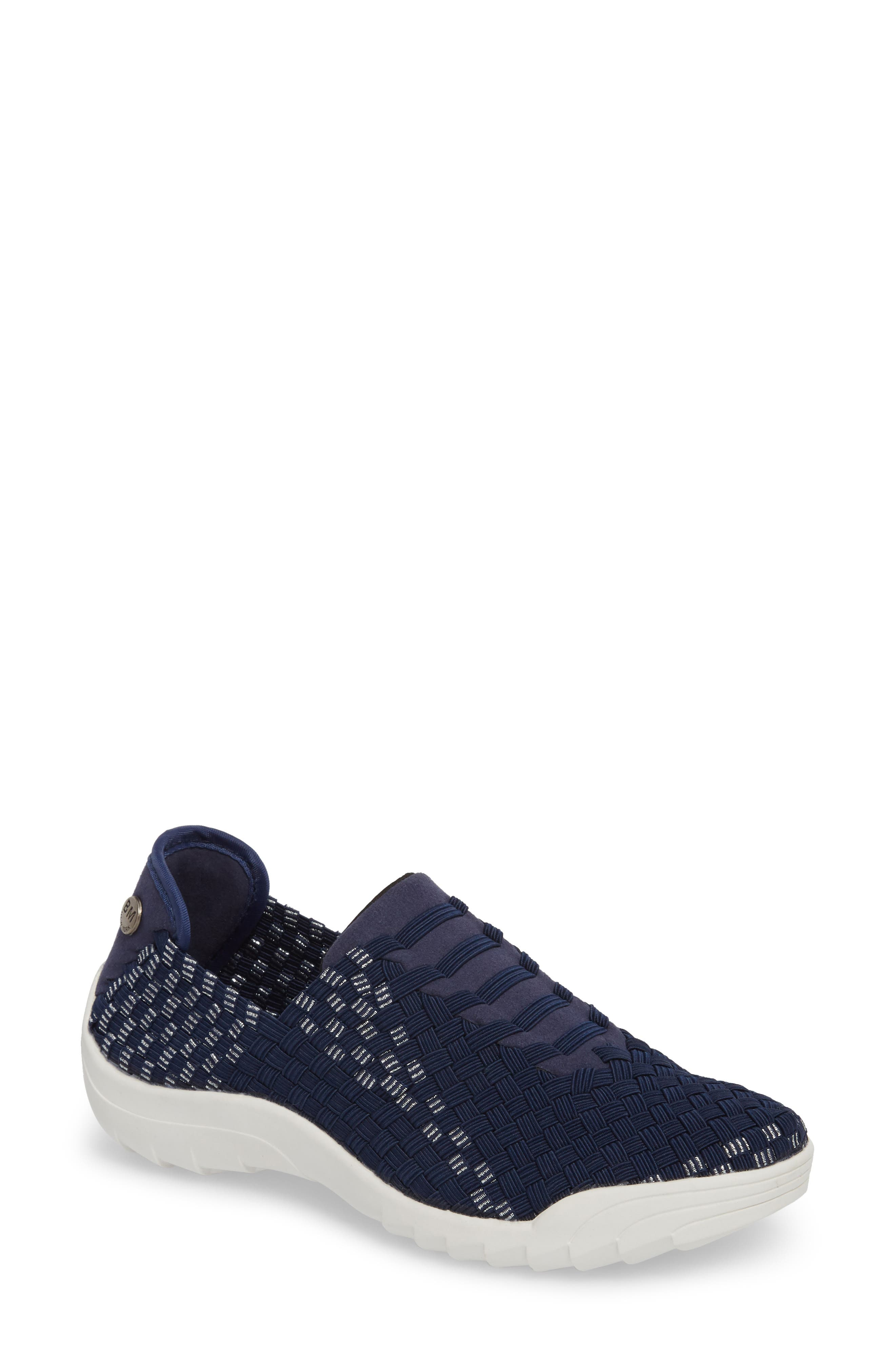 Rigged Vivaldi Slip-On Sneaker,                             Main thumbnail 1, color,                             Navy Lurex
