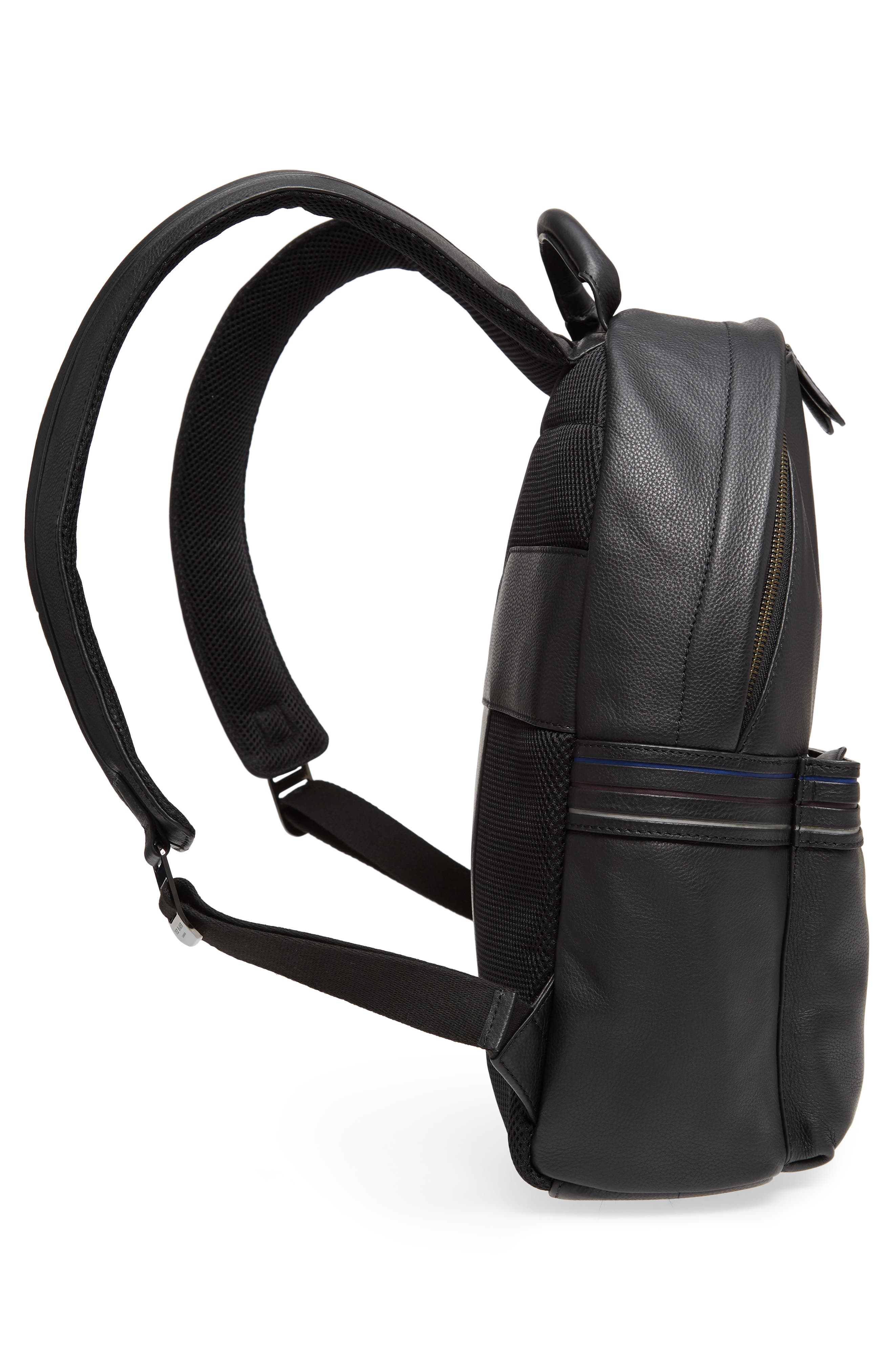 Huntman Stripe Backpack,                             Alternate thumbnail 5, color,                             Black