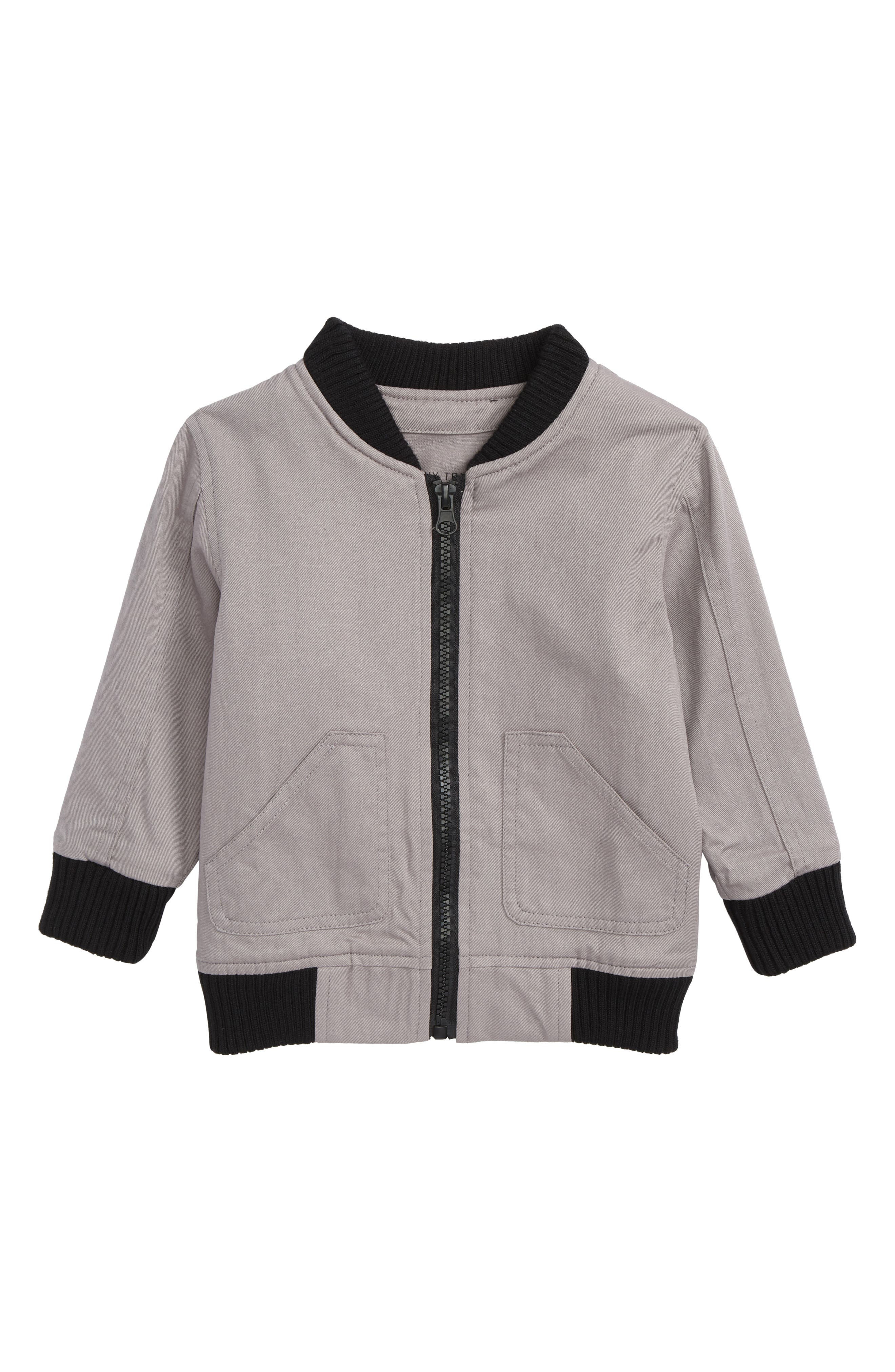 Tiny Tribe Check You Later Bomber Jacket (Baby Boys)