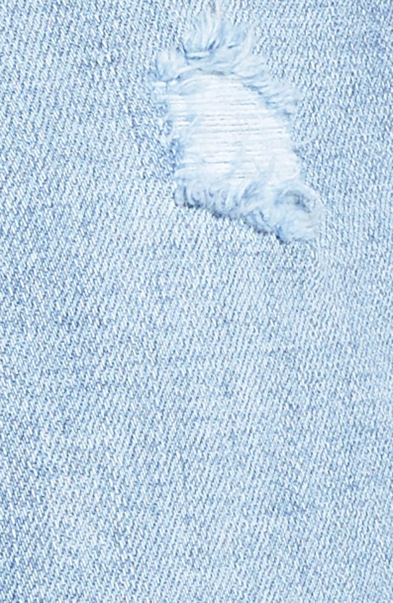 Zoey Denim Shorts,                             Alternate thumbnail 6, color,                             Dustbowl