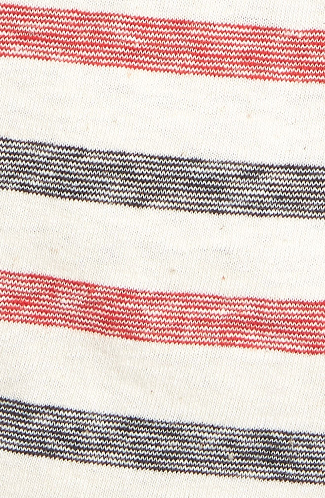 Striped T-Shirt,                             Alternate thumbnail 5, color,                             Red