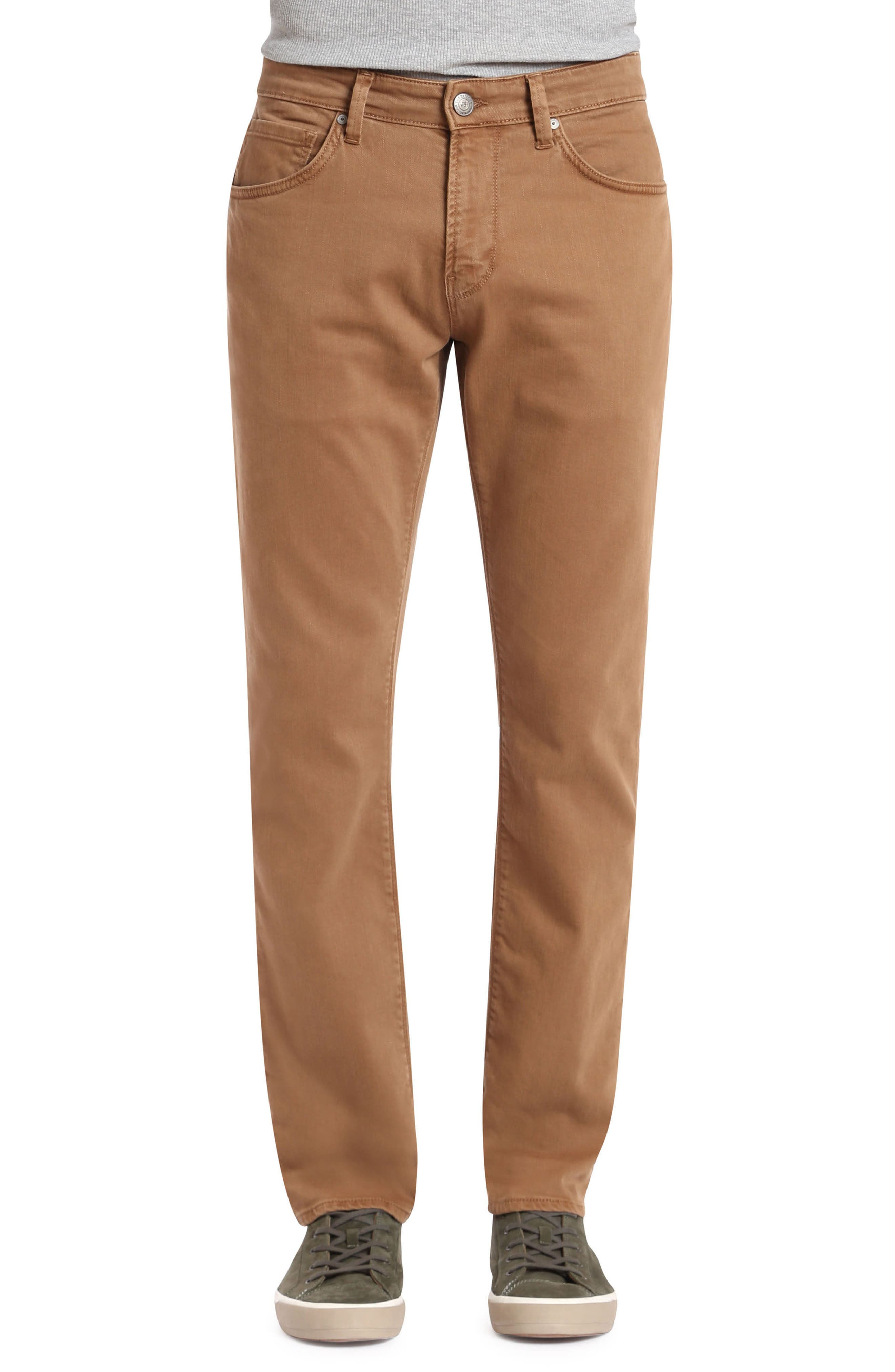 Marcus Slim Straight Leg Pants,                         Main,                         color, Toffee Washed Comfort