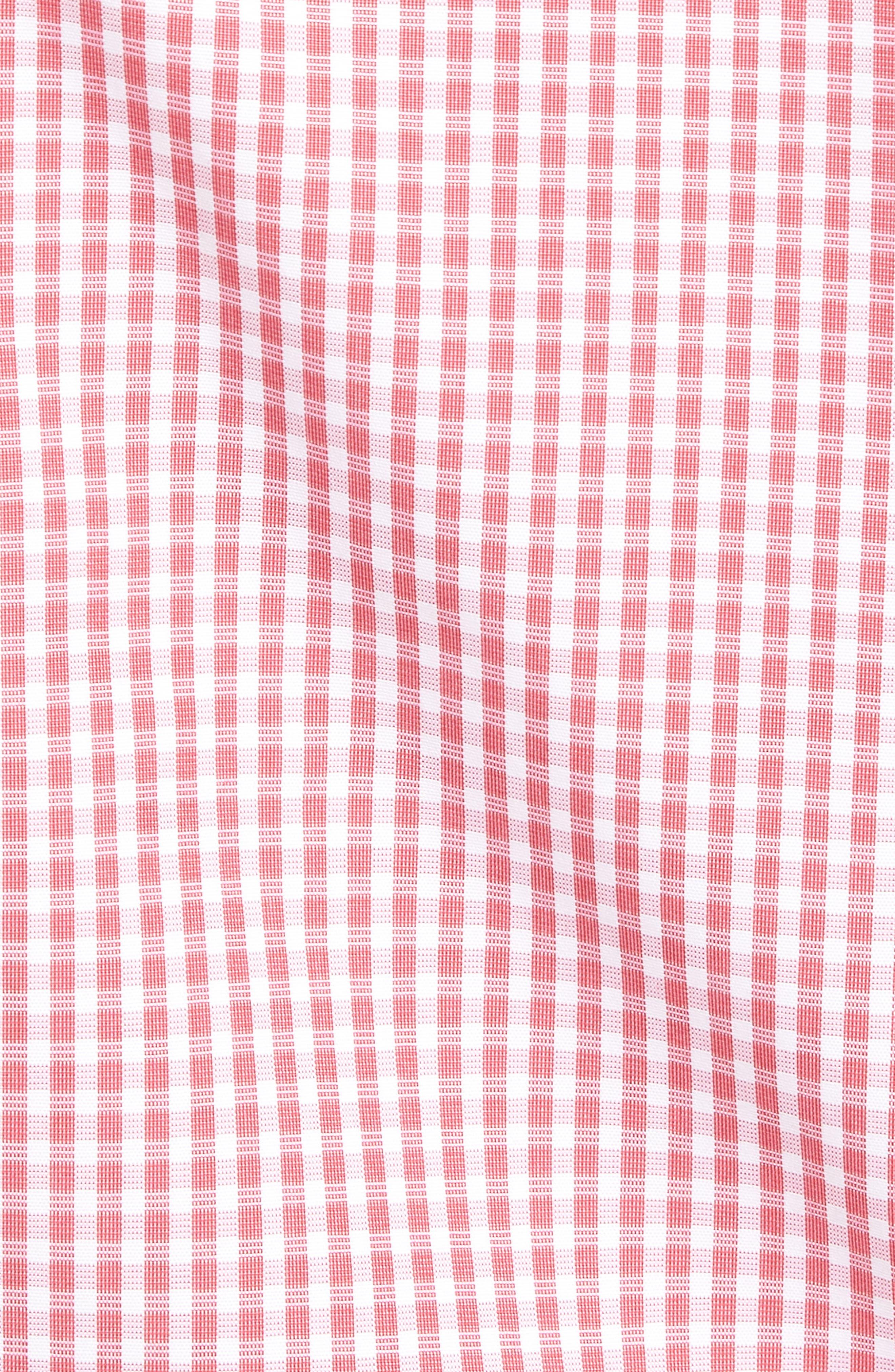 Check Cotton Sport Shirt,                             Alternate thumbnail 5, color,                             Pink