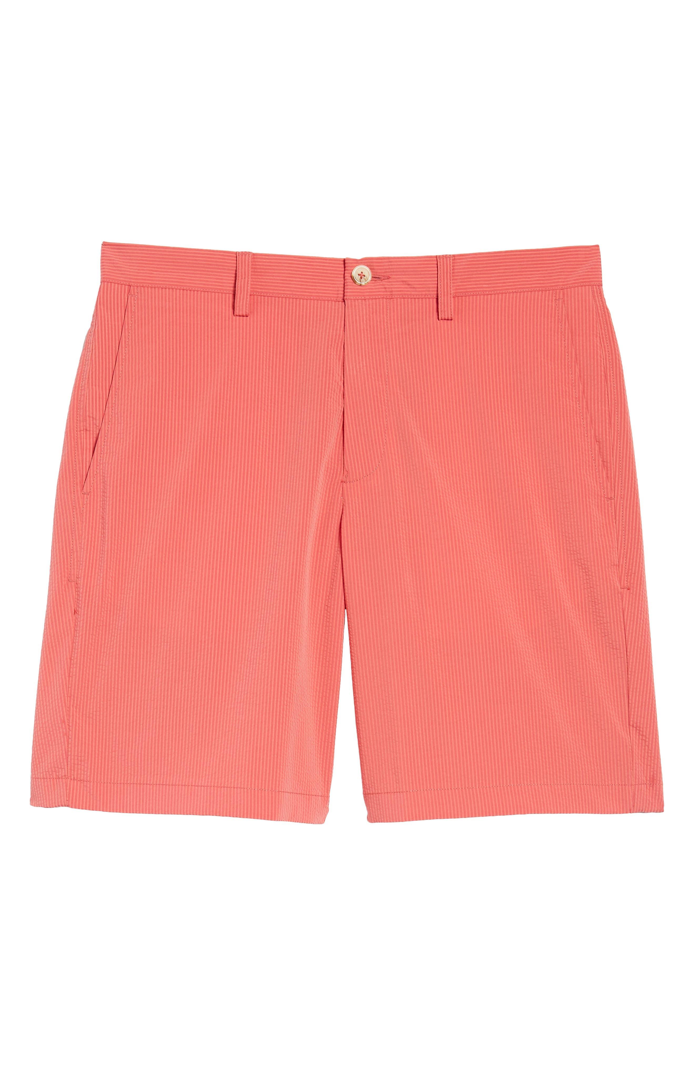 Seersucker Shorts,                             Alternate thumbnail 6, color,                             Charleston Red