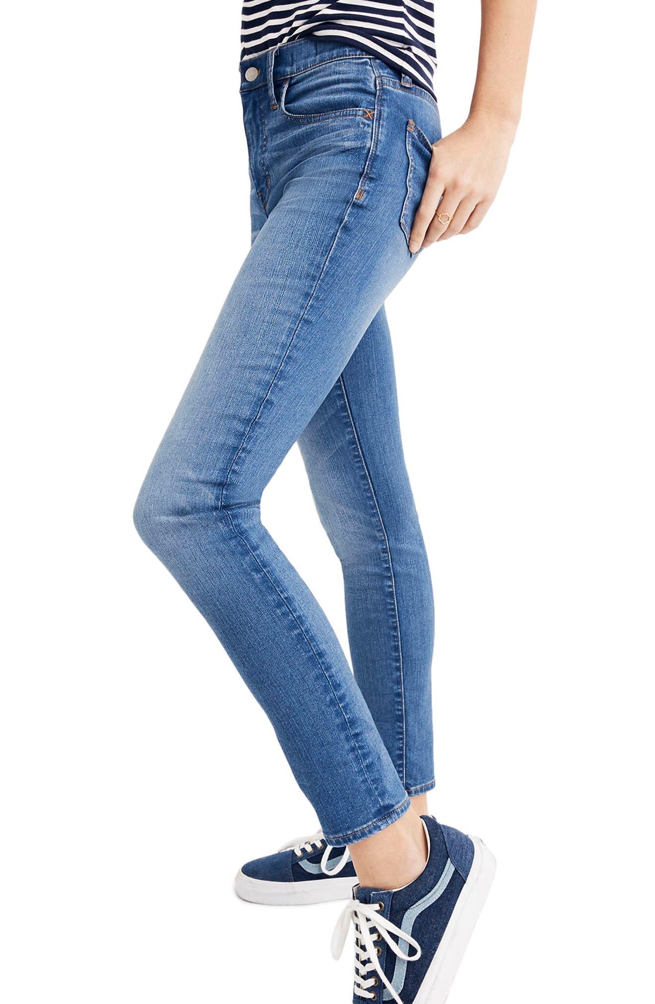 Roadtripper Crop Skinny Jeans,                             Alternate thumbnail 3, color,                             Declan Wash