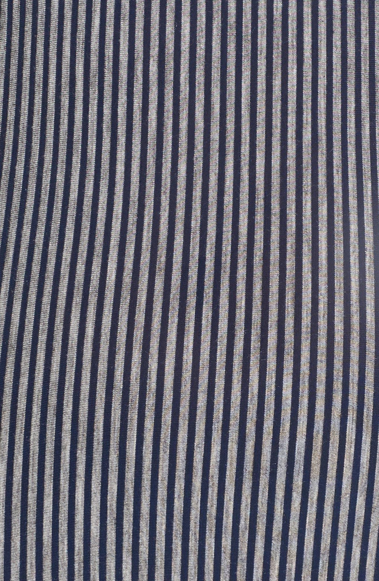 Amalfi Underwire Bodysuit,                             Alternate thumbnail 5, color,                             Heather Grey/ Navy