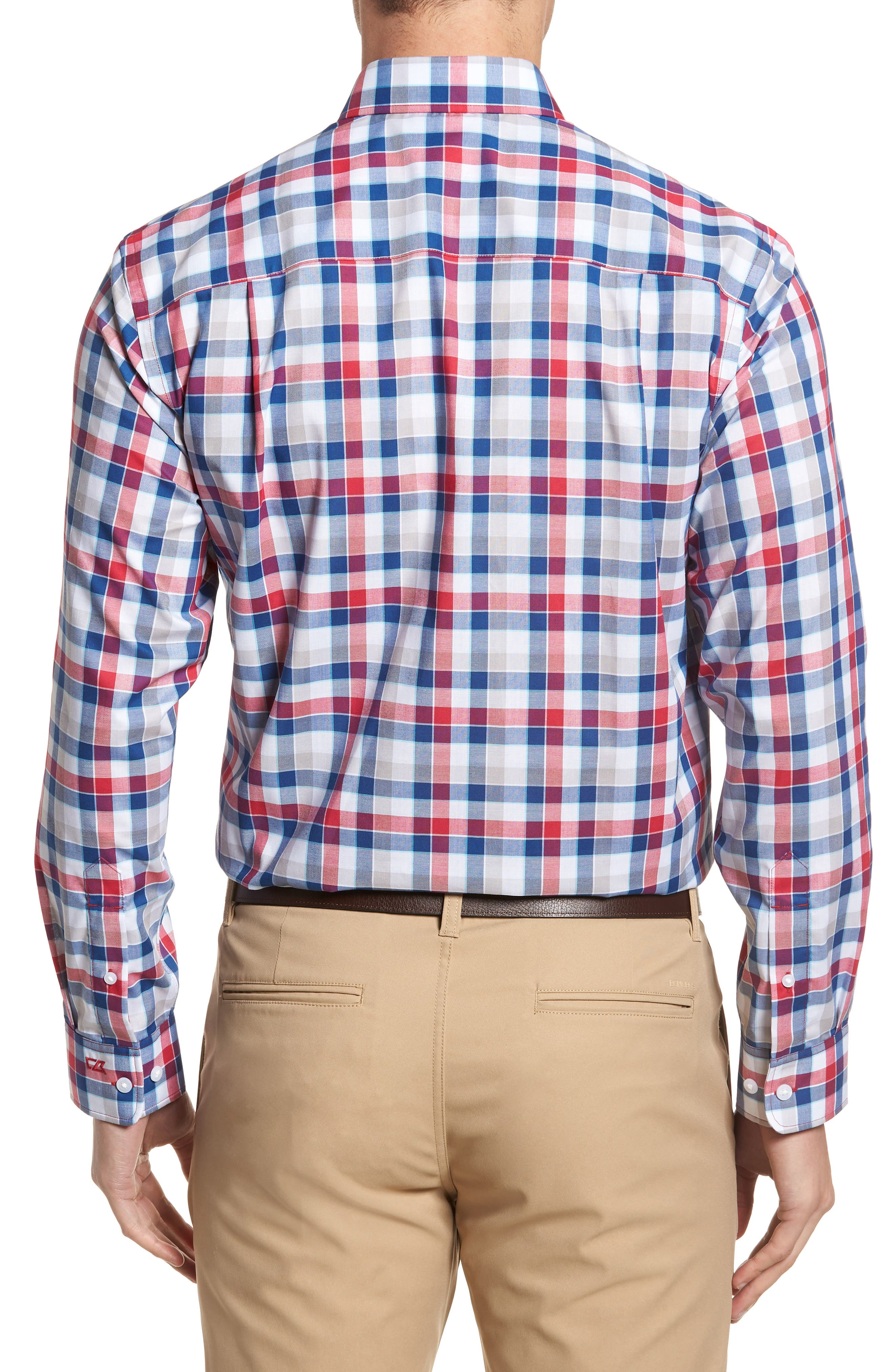Dylan Classic Fit Easy Care Check Sport Shirt,                             Alternate thumbnail 2, color,                             Virtual