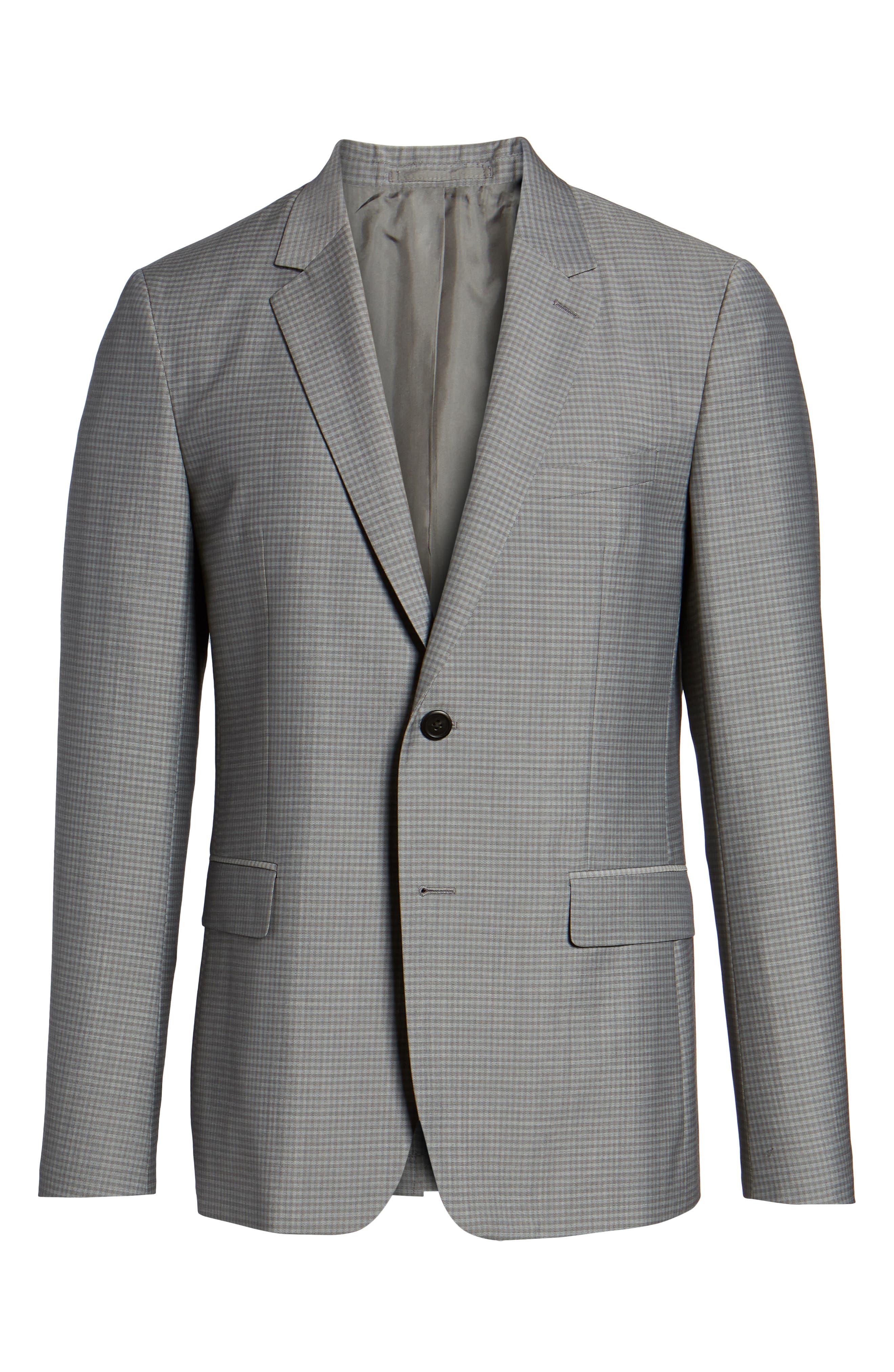 Gansevoort Trim Fit Check Wool Sport Coat,                             Alternate thumbnail 7, color,                             Dove Multi