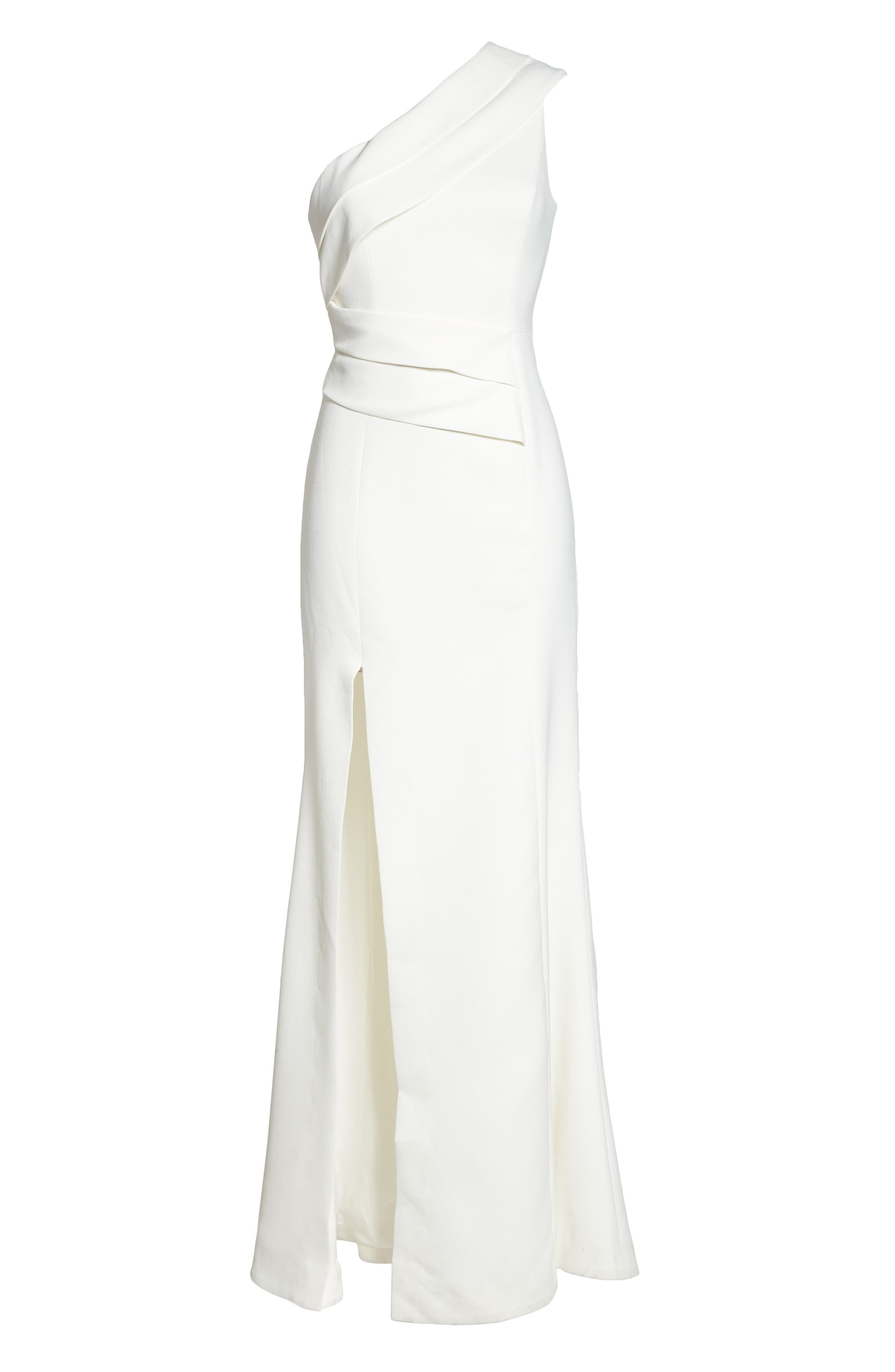 Be Moved One-Shoulder Gown,                             Alternate thumbnail 6, color,                             Ivory