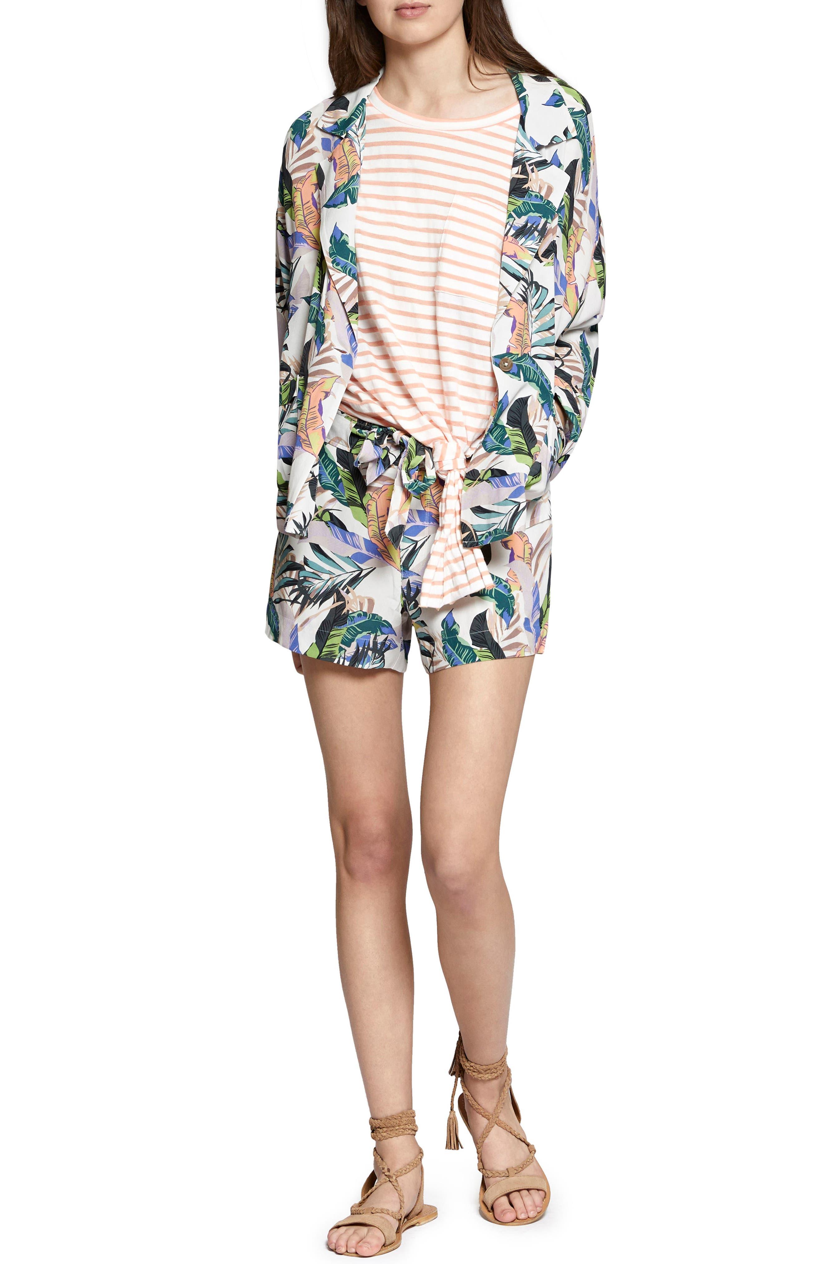 Wild Flower Shorts,                             Alternate thumbnail 4, color,                             Tropics