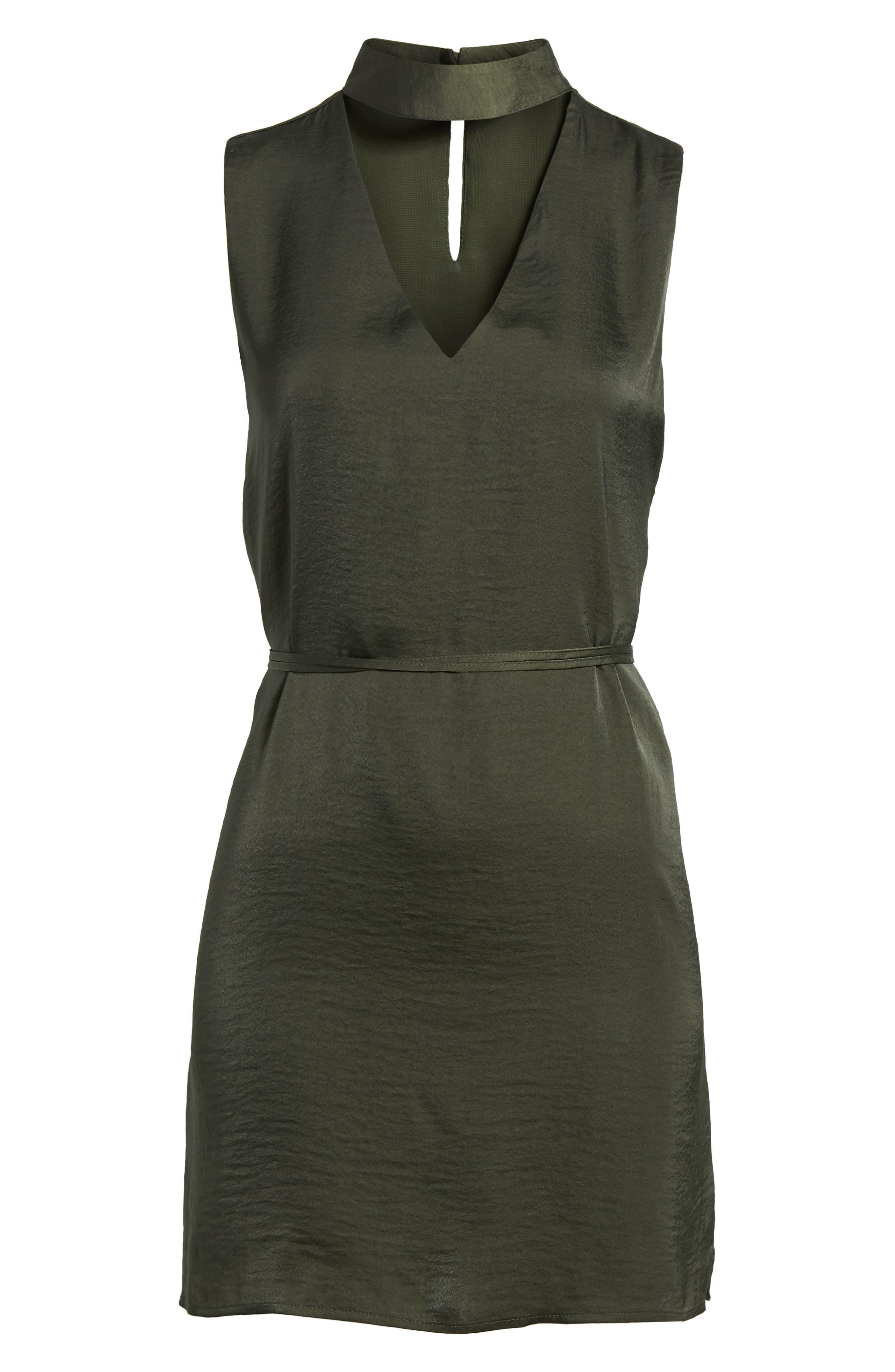 Hansel Sleeveless Dress,                             Alternate thumbnail 7, color,                             Army