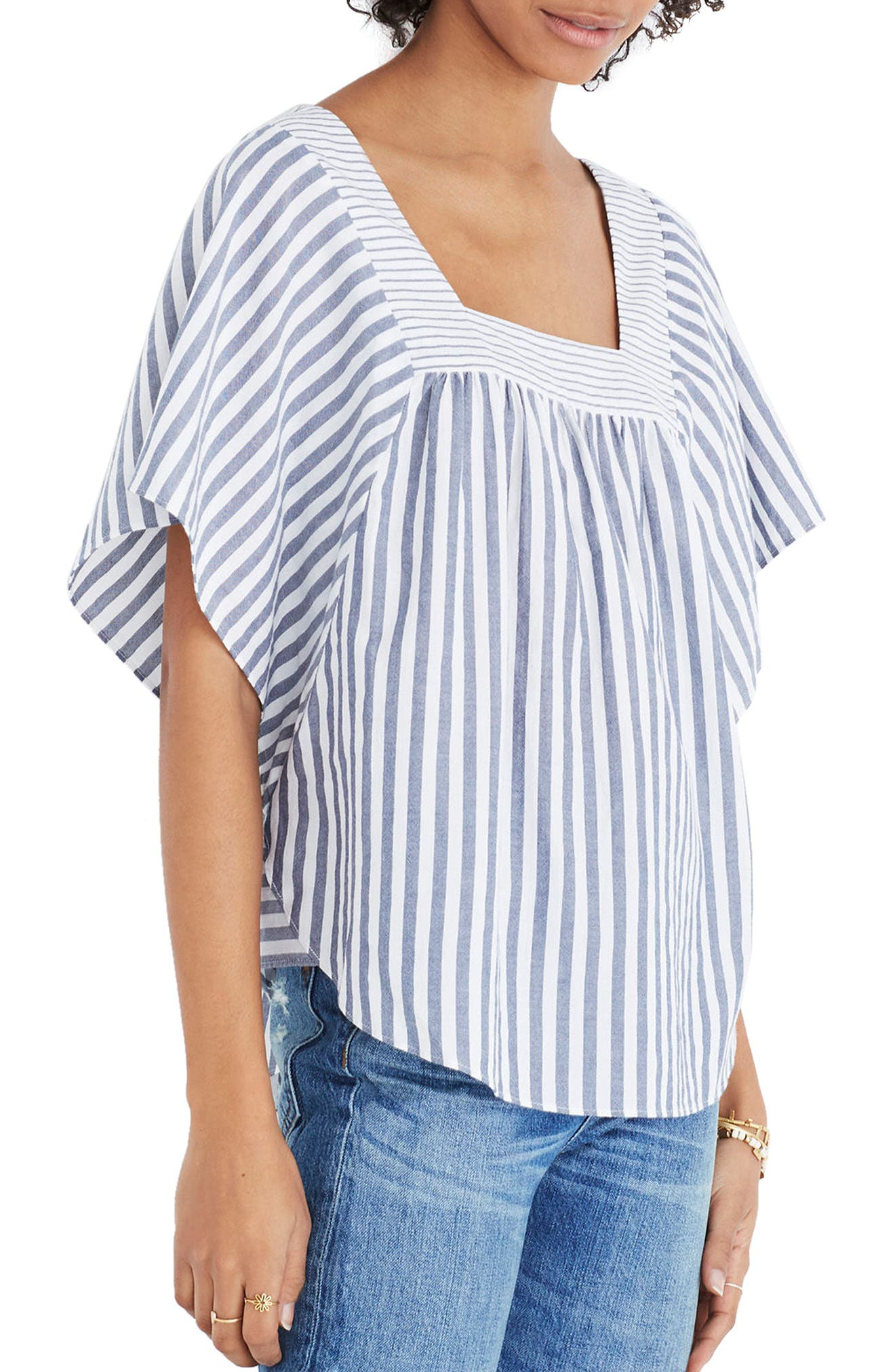 Alternate Image 1 Selected - Madewell Stripe Butterfly Top