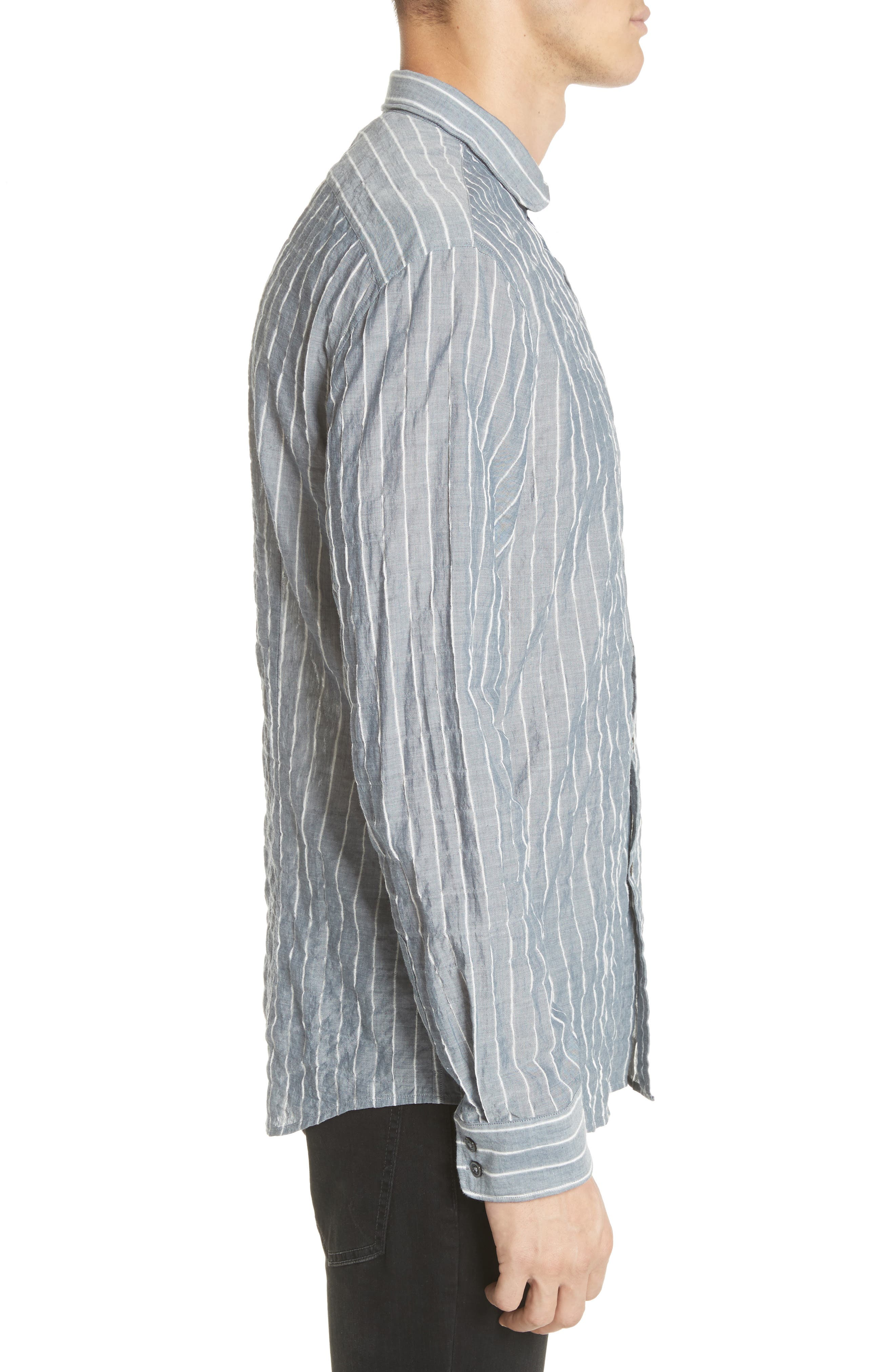 Alternate Image 4  - John Varvatos Collection Slim Fit Wire Collar Shirt