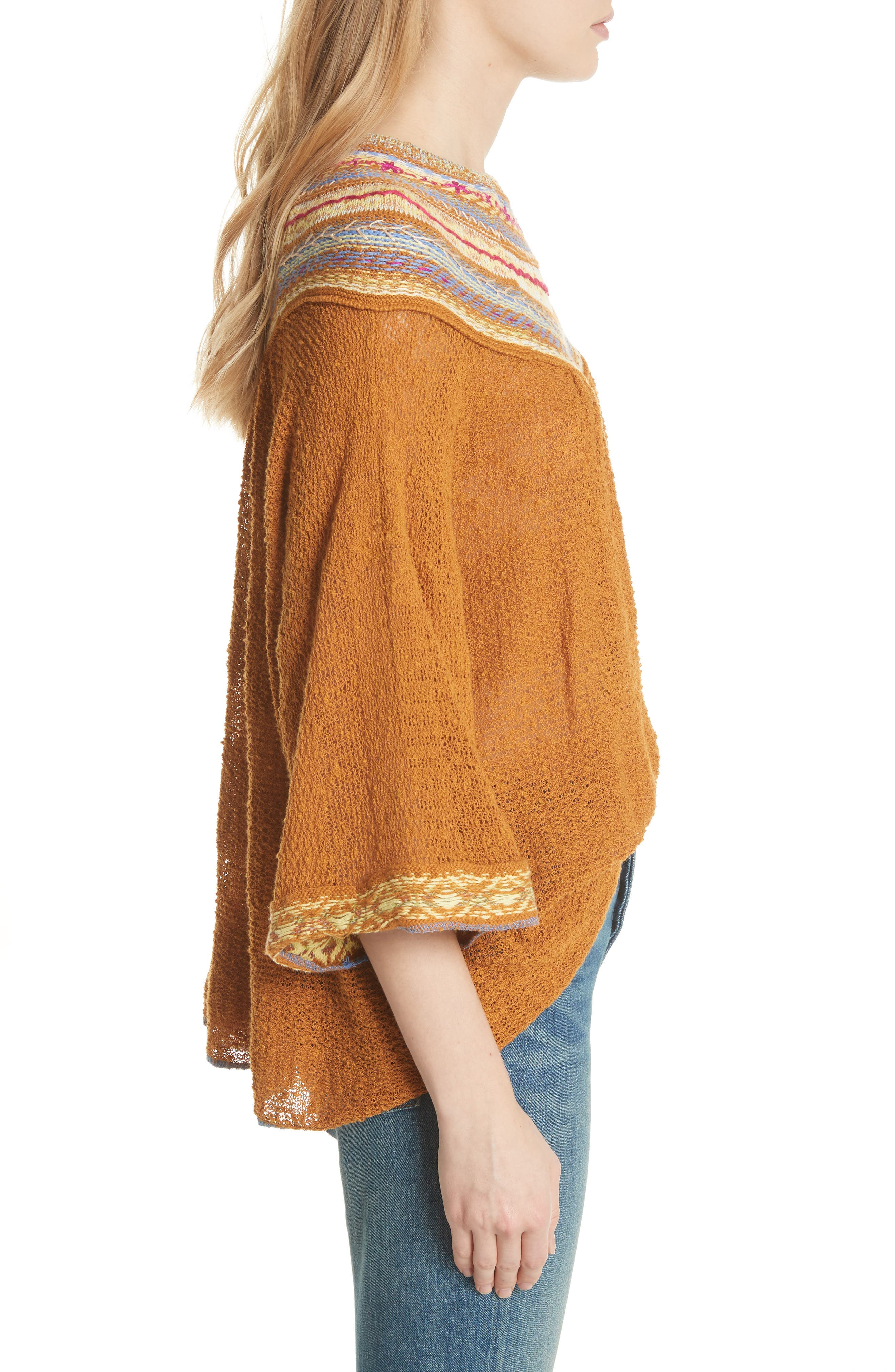 Vacation Sweater,                             Alternate thumbnail 3, color,                             Gold