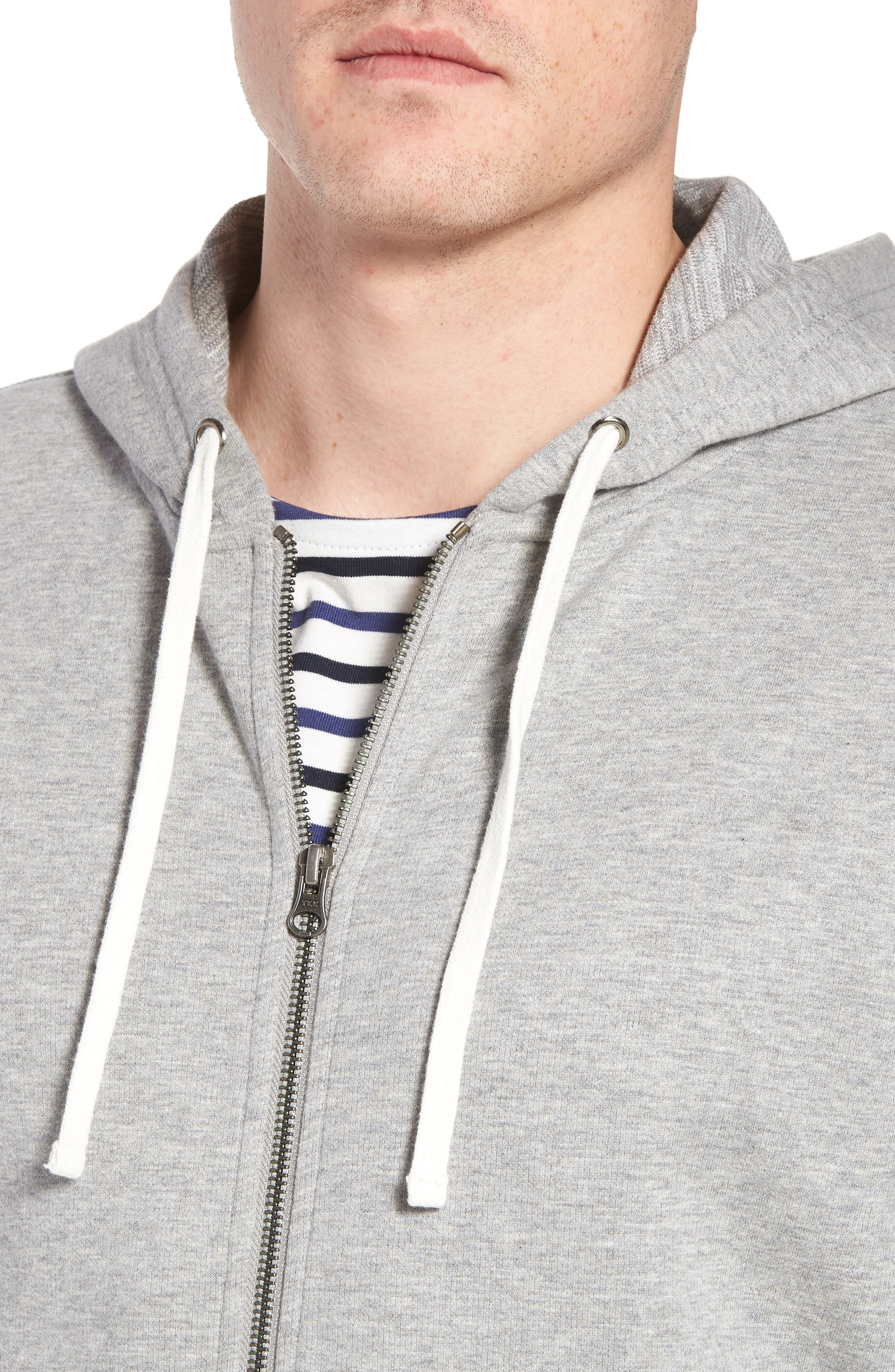 Space Dyed Zip Hoodie,                             Alternate thumbnail 4, color,                             Grey Weather Heather