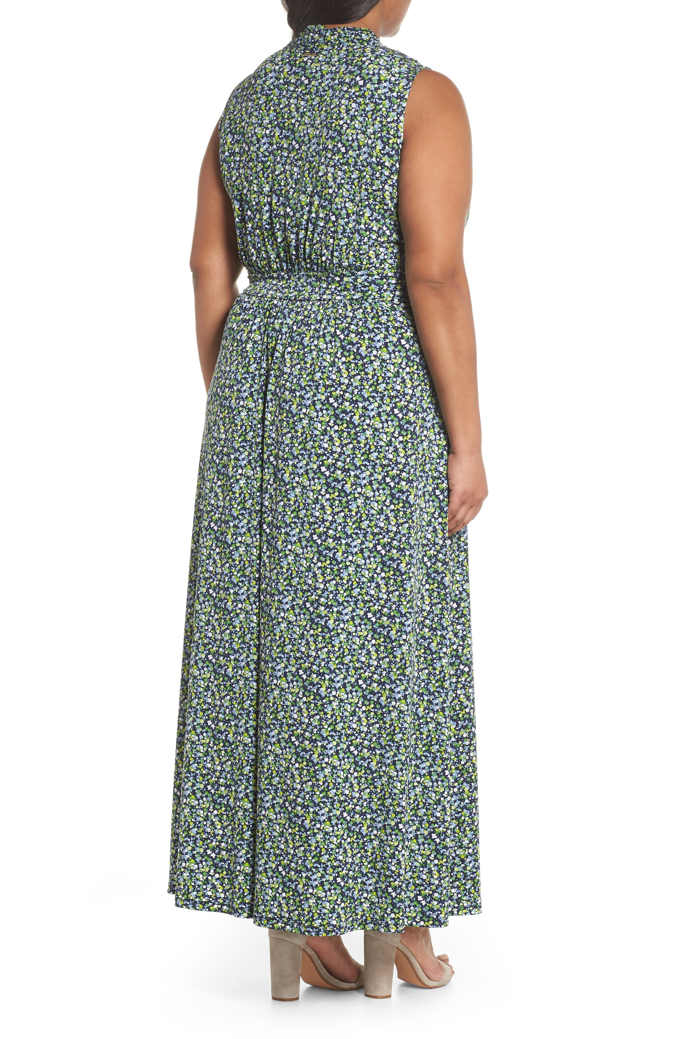 Alternate Image 2  - MICHAEL Michael Kors Wildflowers Maxi Dress (Plus Size)