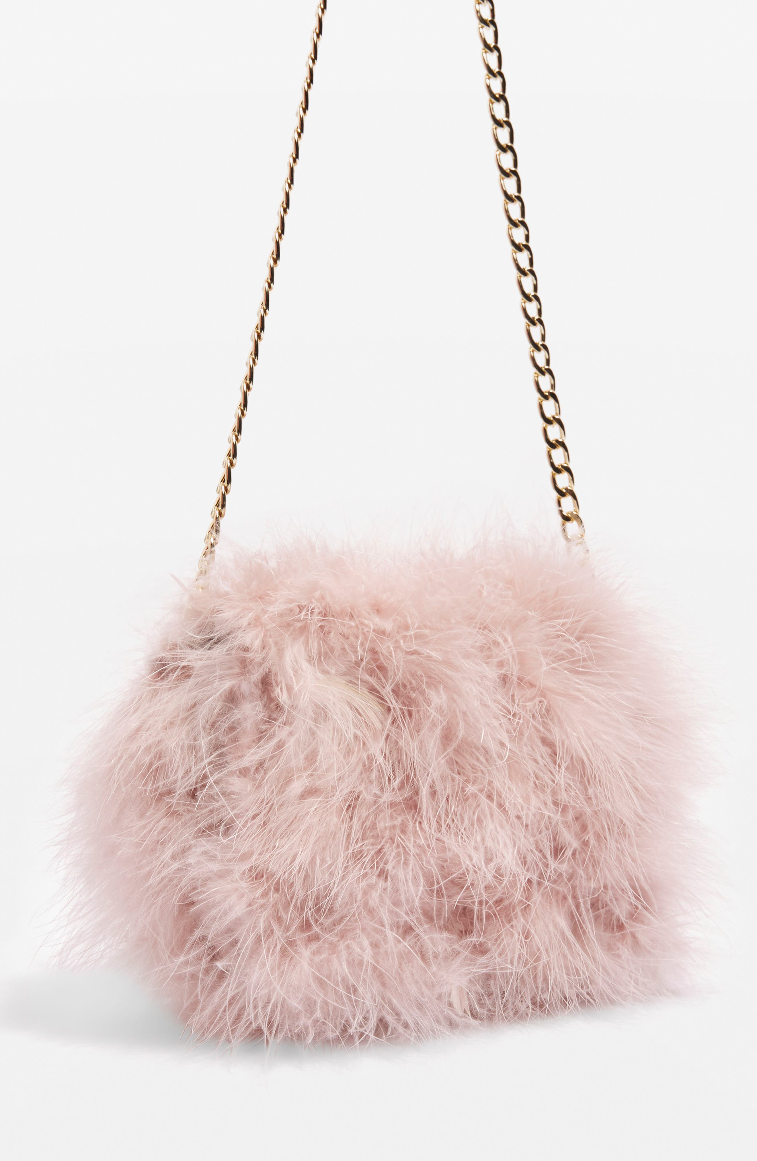 Alternate Image 3  - Topshop Riga Feather Crossbody Bag