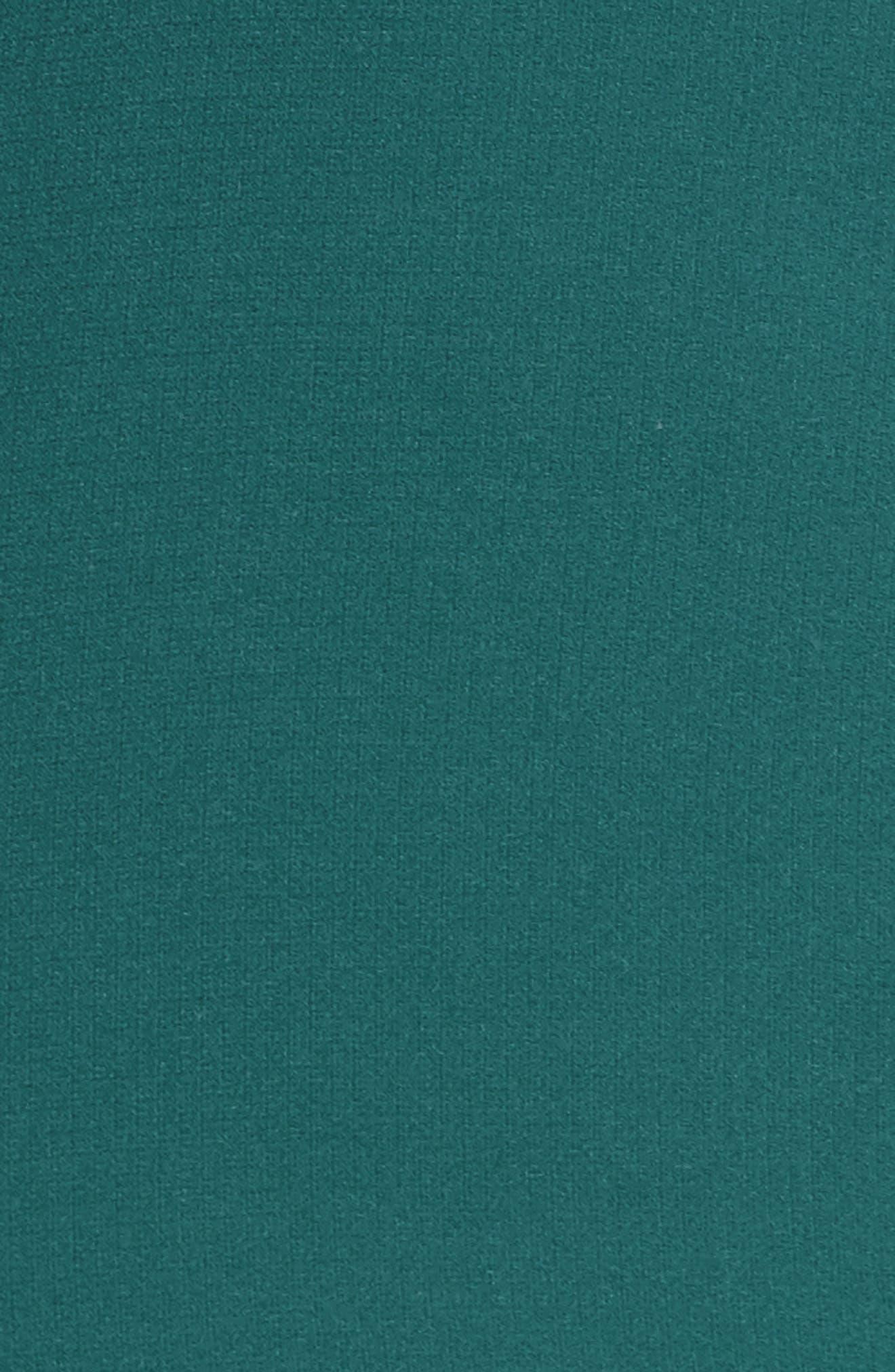 Dawn Drift Ruffle Midi Dress,                             Alternate thumbnail 5, color,                             North Sea