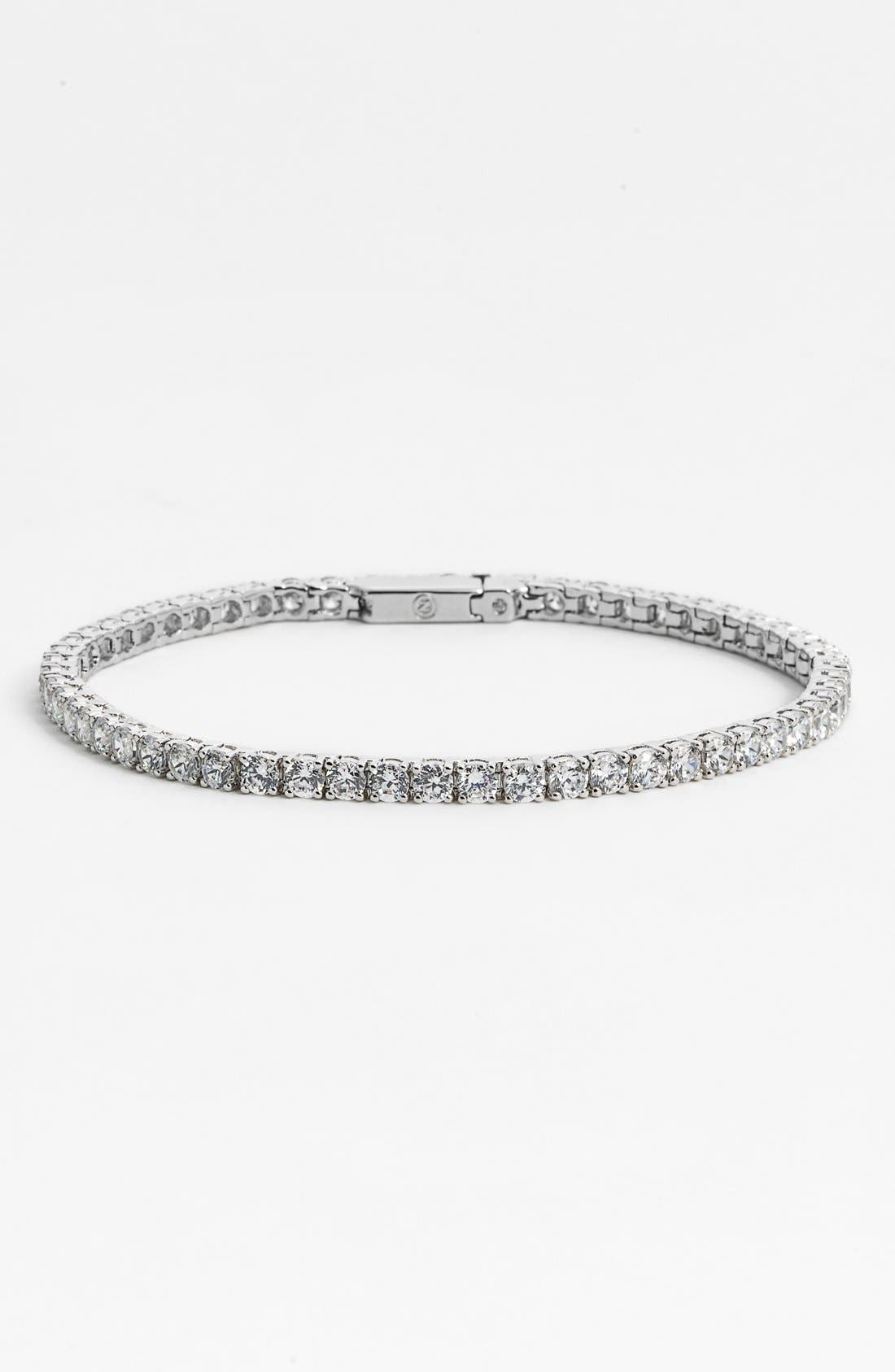 Small Tennis Bracelet,                         Main,                         color, Silver