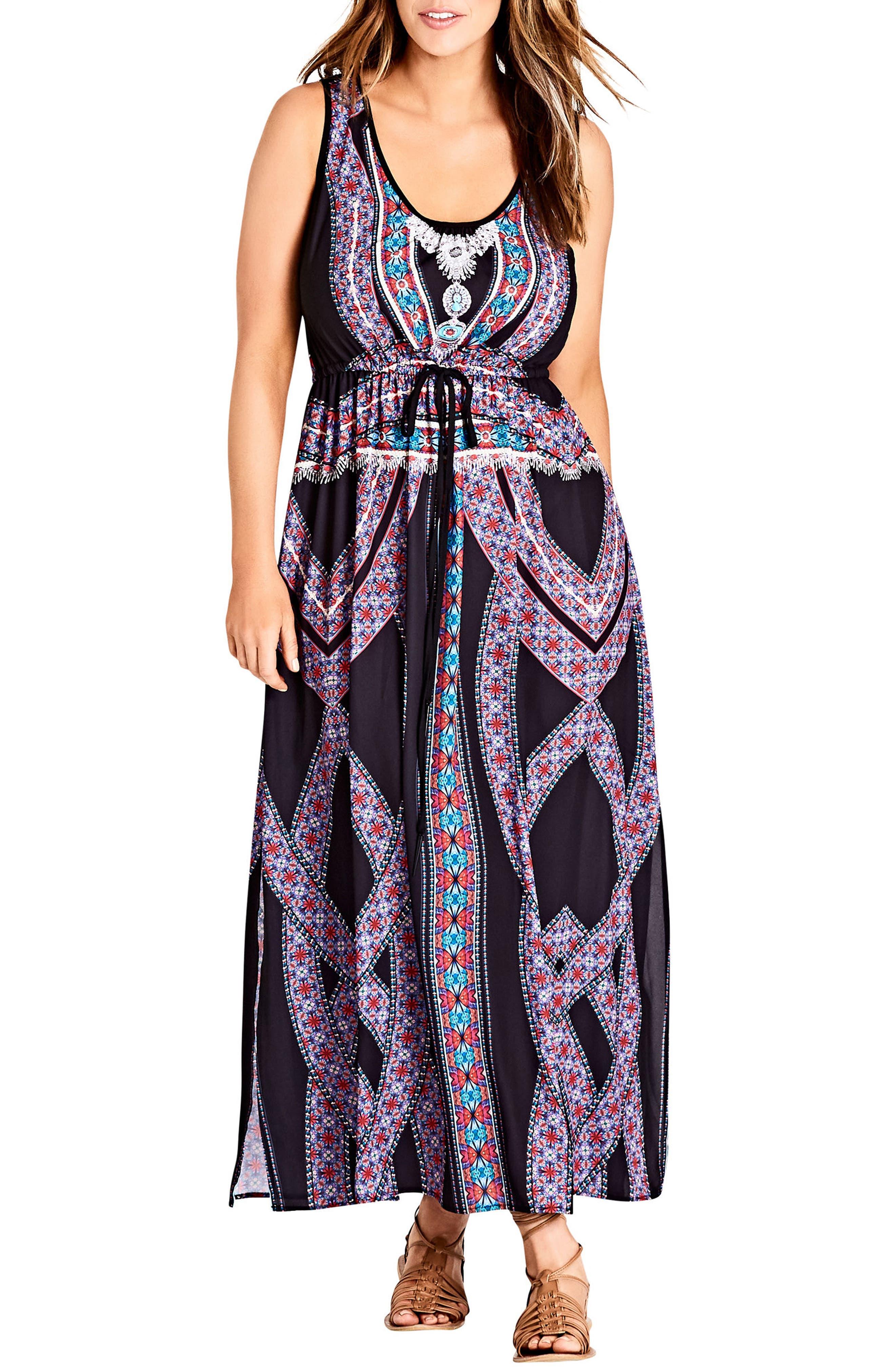 City Chic Brasilia Maxi Dress (Plus Size)
