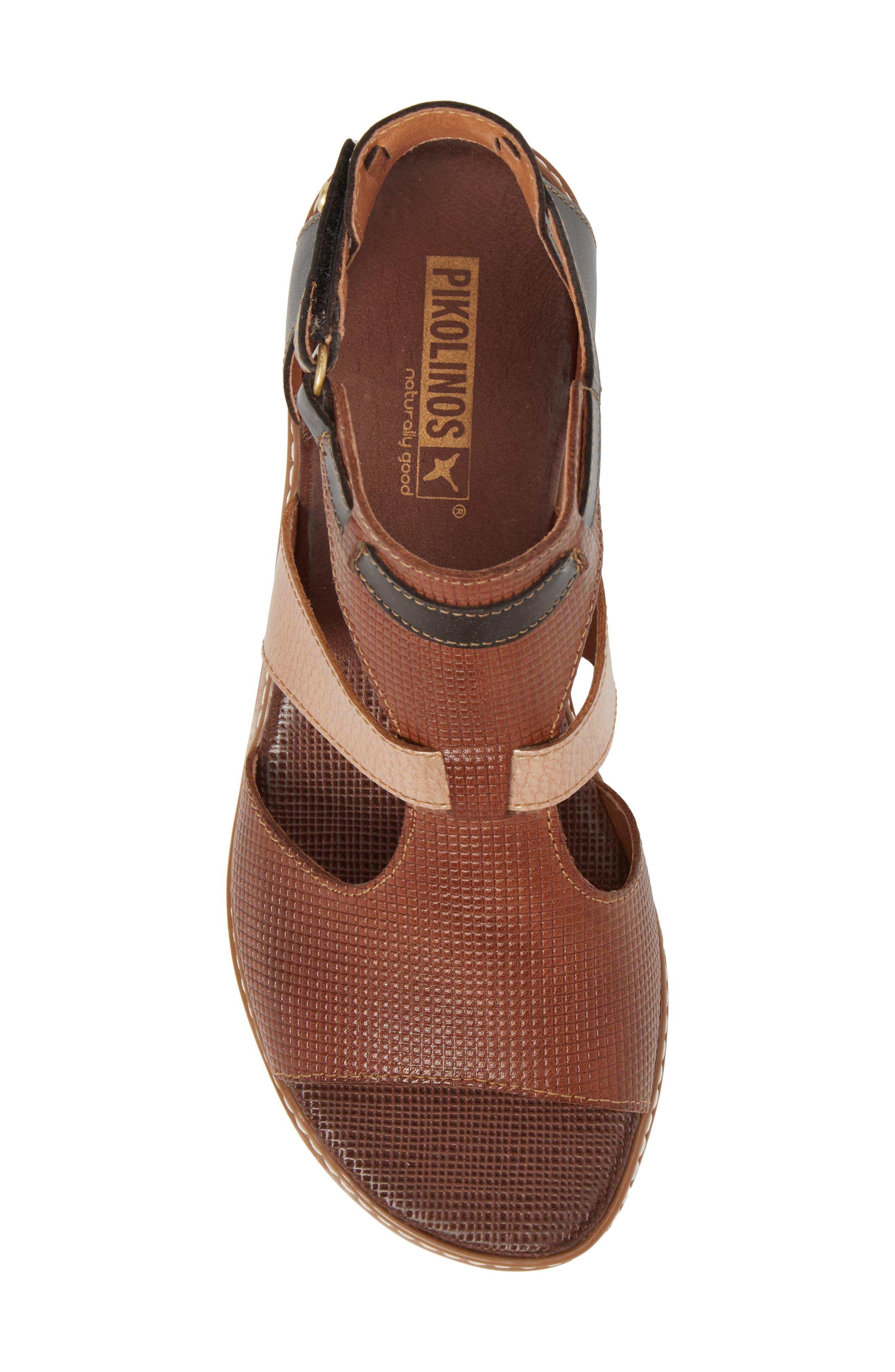 Alcudia Sandal,                             Alternate thumbnail 5, color,                             Cuero Leather
