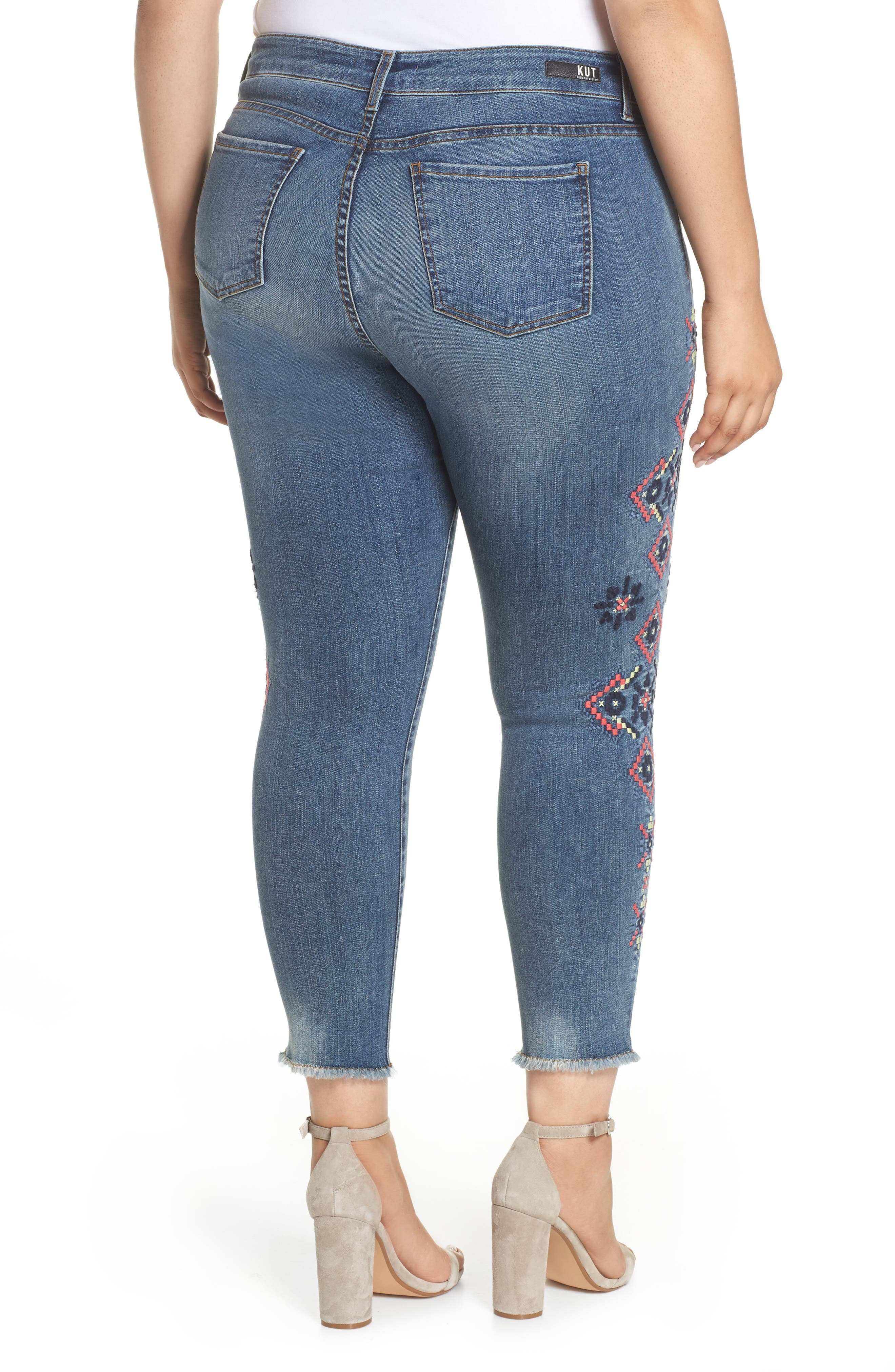 Embroidered Skinny Jeans,                             Alternate thumbnail 2, color,                             Input