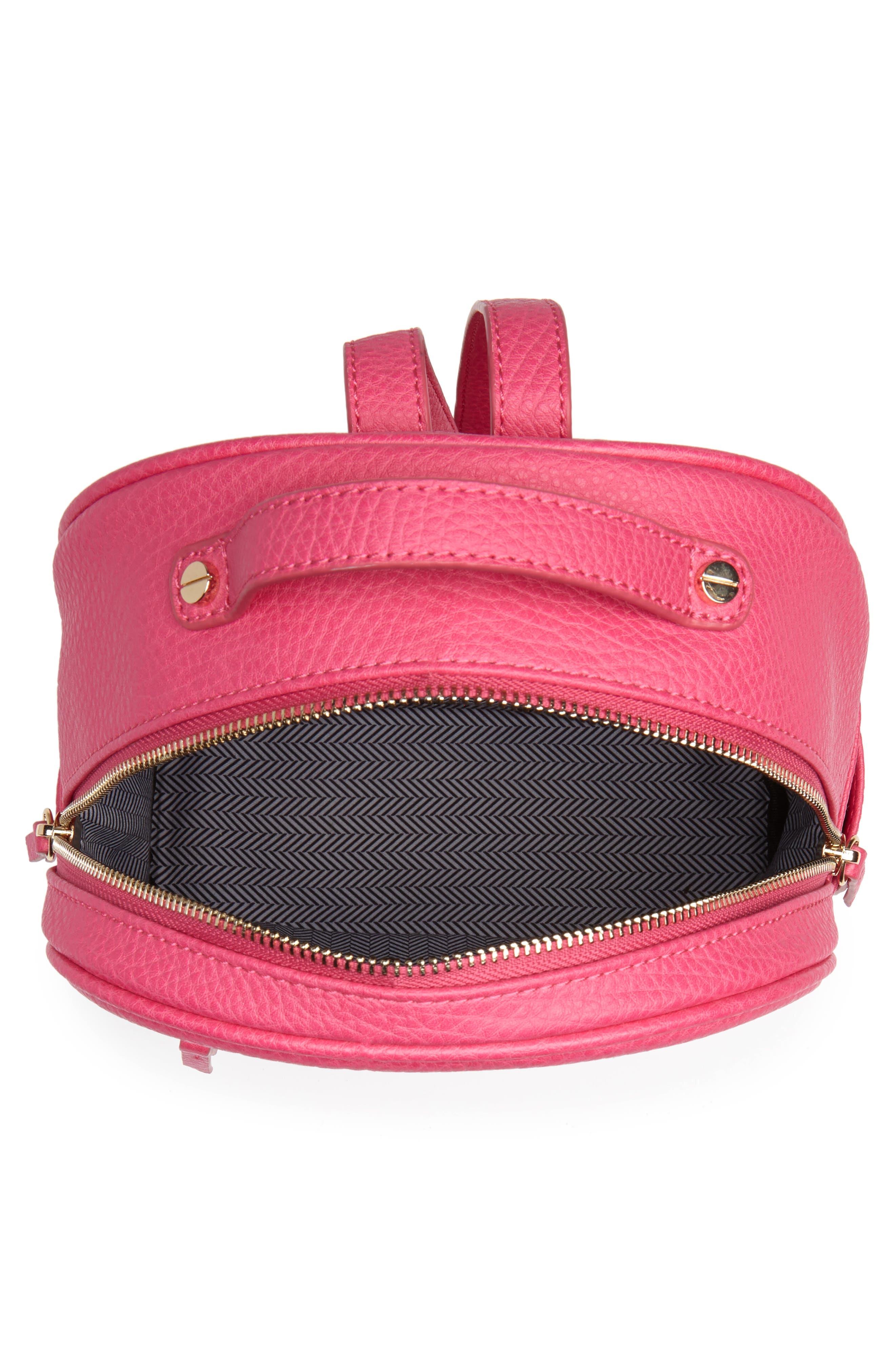 Mali + Lili Hannah Vegan Leather Backpack,                             Alternate thumbnail 4, color,                             Hot Pink