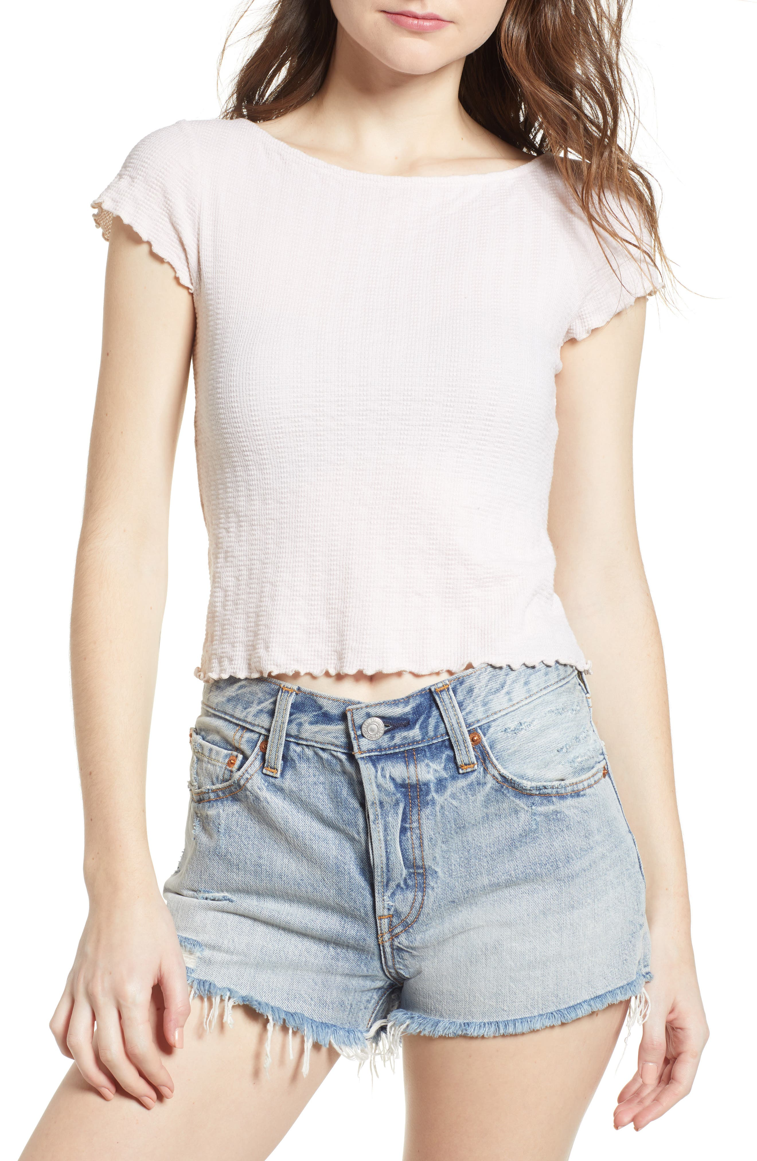 Lettuce Edge Crop Tee,                         Main,                         color, Shell