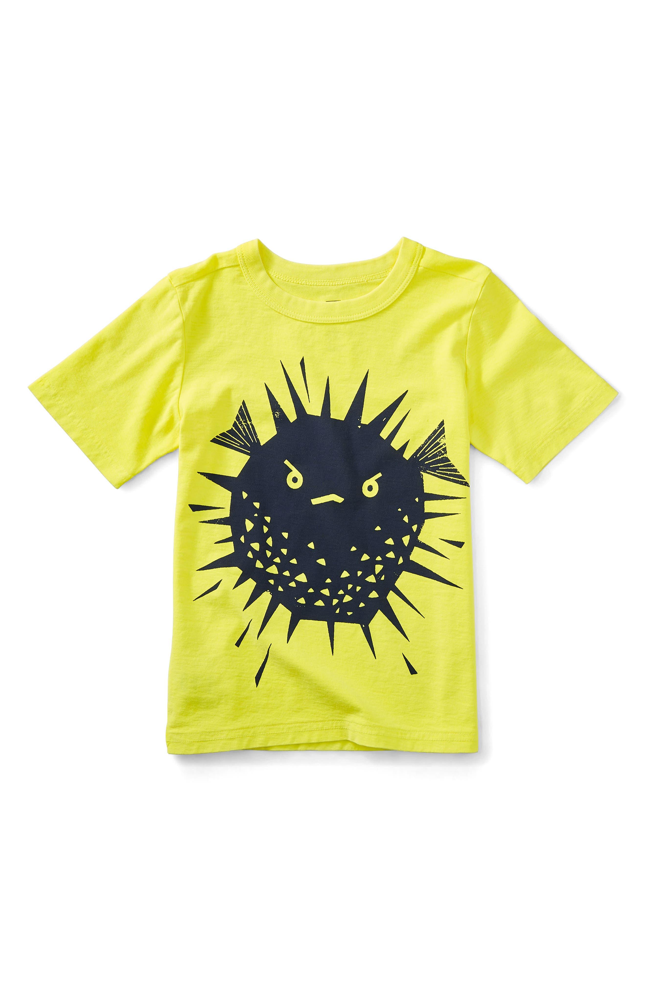 Puffer Fish Graphic T-Shirt,                         Main,                         color, Neon Yellow