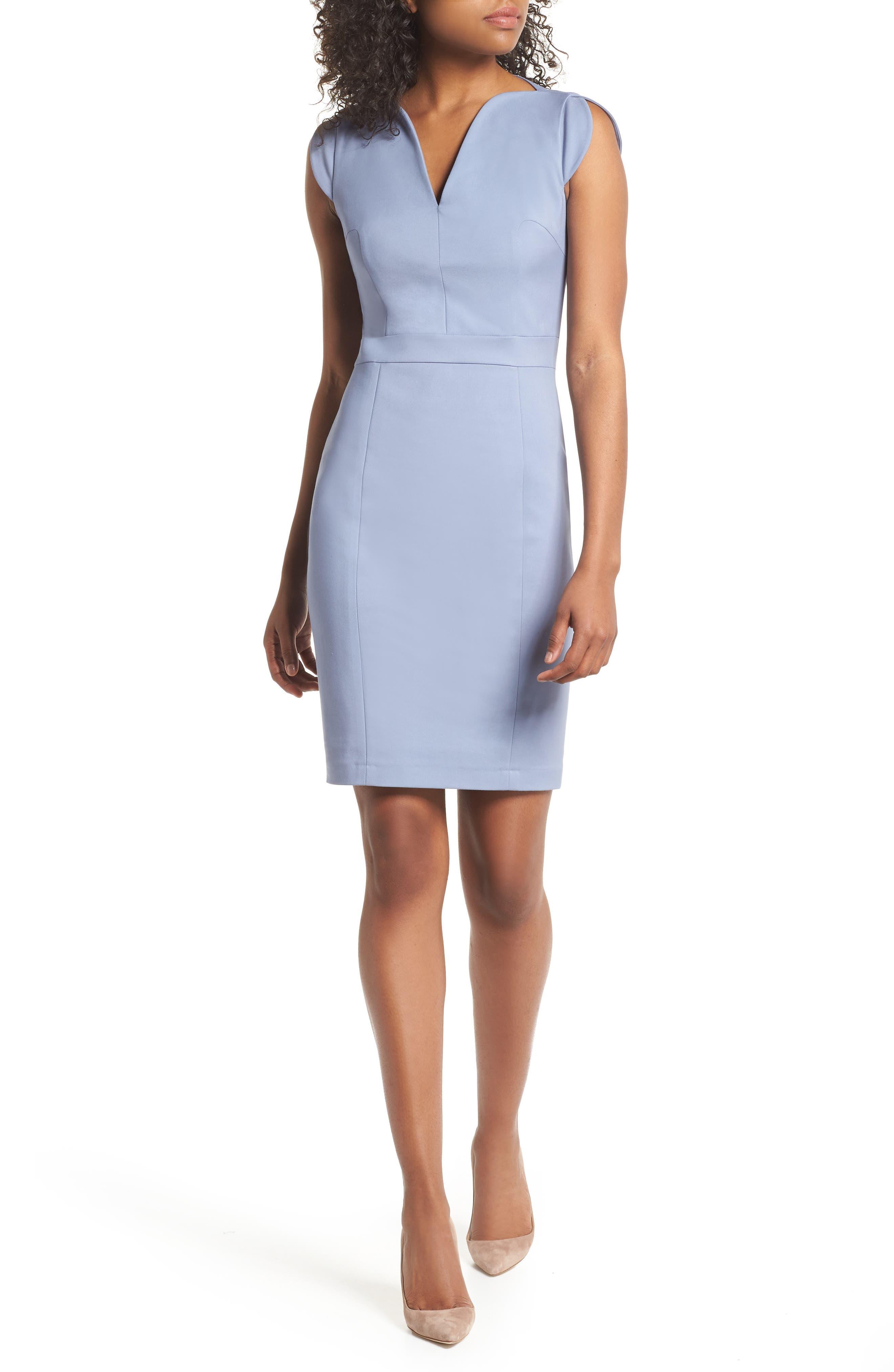 'Lolo' Stretch Sheath Dress,                         Main,                         color, Smolder