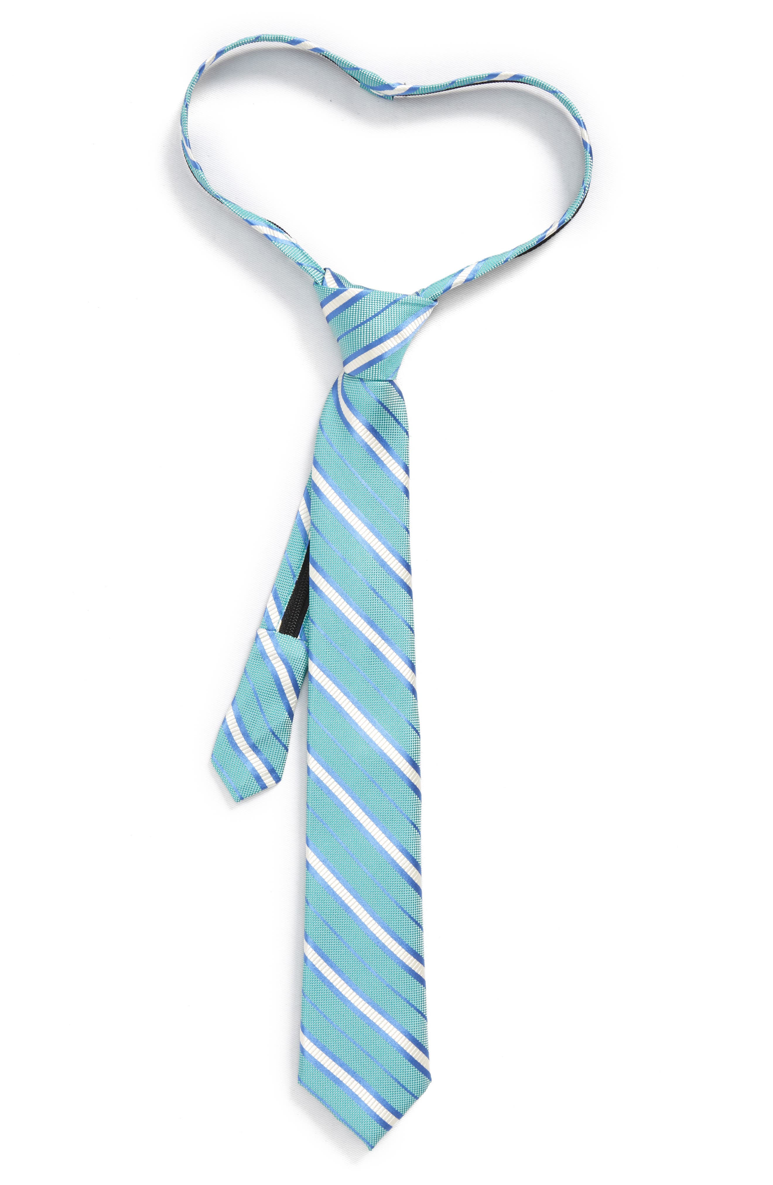 Nordstrom Candy Stripe Silk Zip Tie (Big Boys)