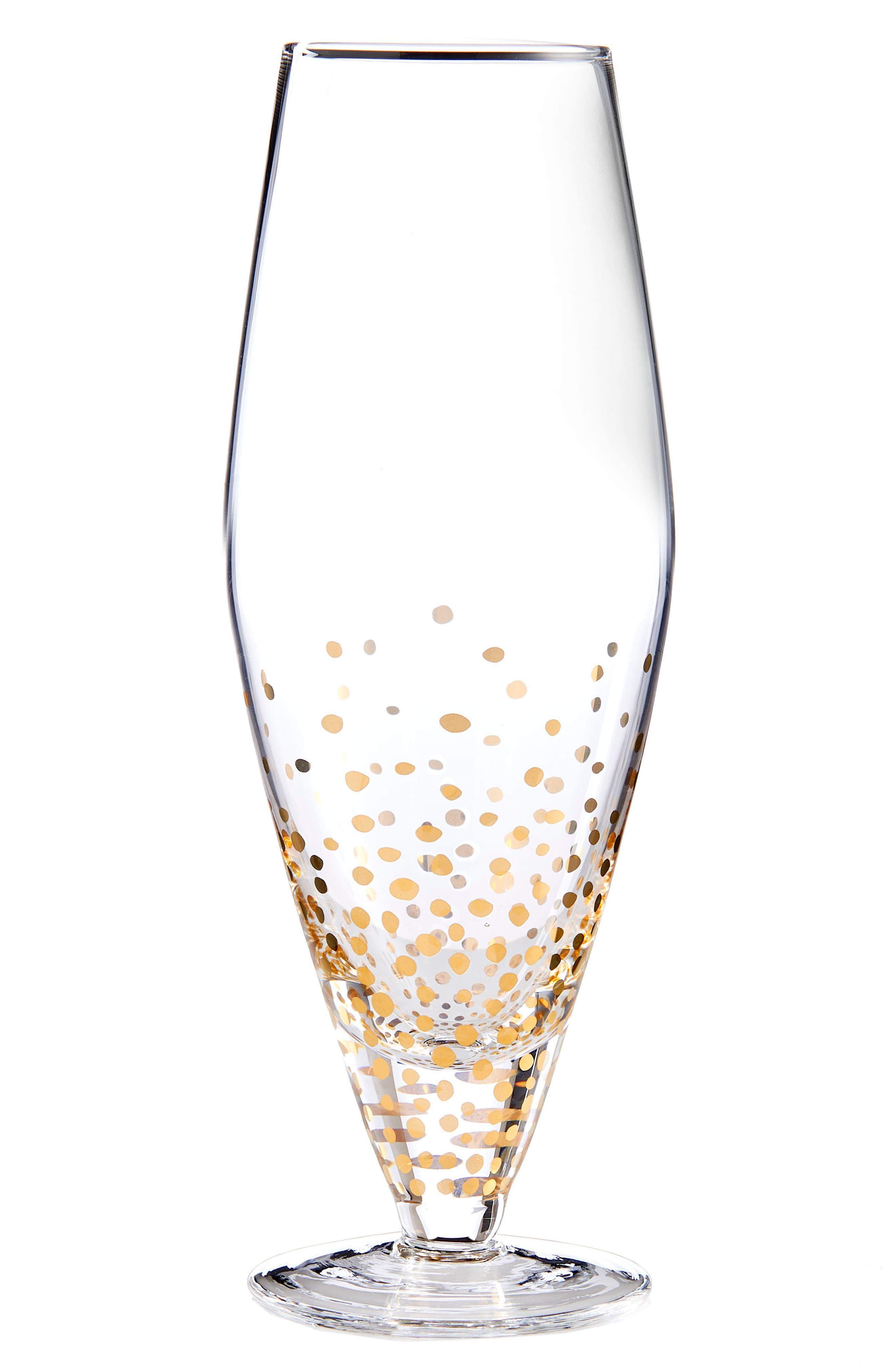 American Atelier Gold Luster Set of 4 Wine Glasses