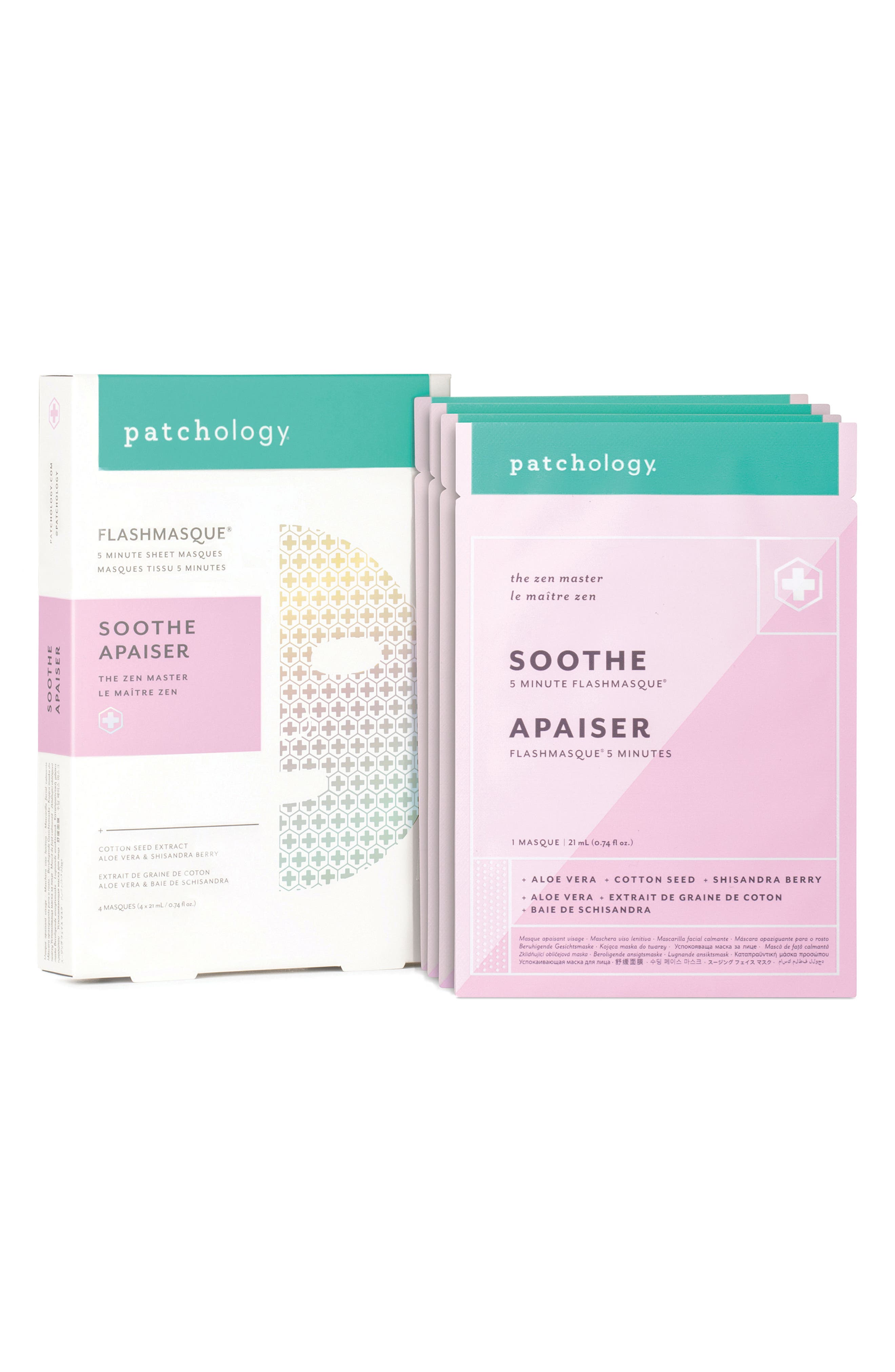 FlashMasque<sup>®</sup> Soothe 5-Minute Facial Sheet Mask,                             Alternate thumbnail 2, color,                             No Color