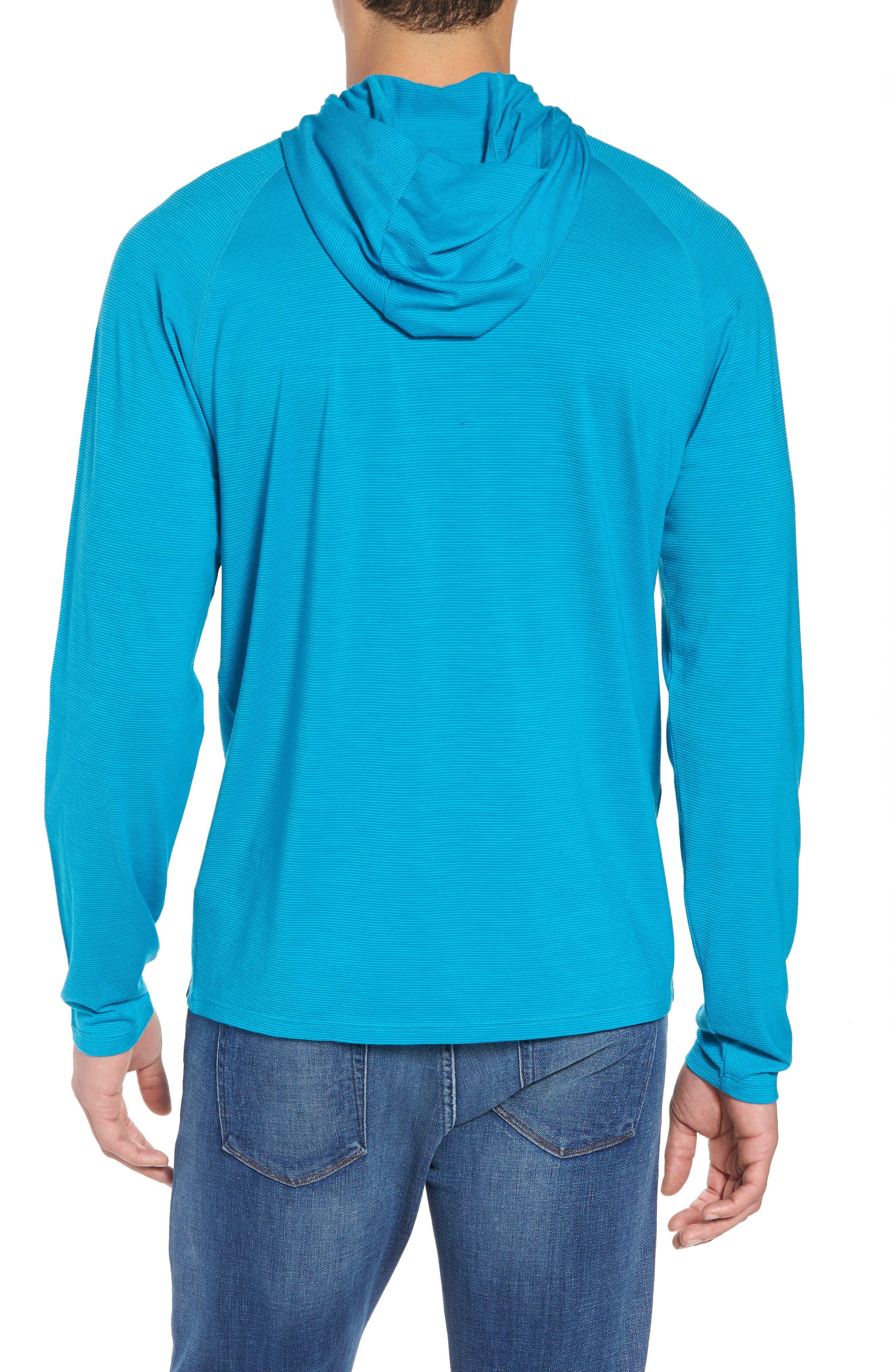 Merino 150 Wool Blend Hoodie,                             Alternate thumbnail 2, color,                             Sea Blue