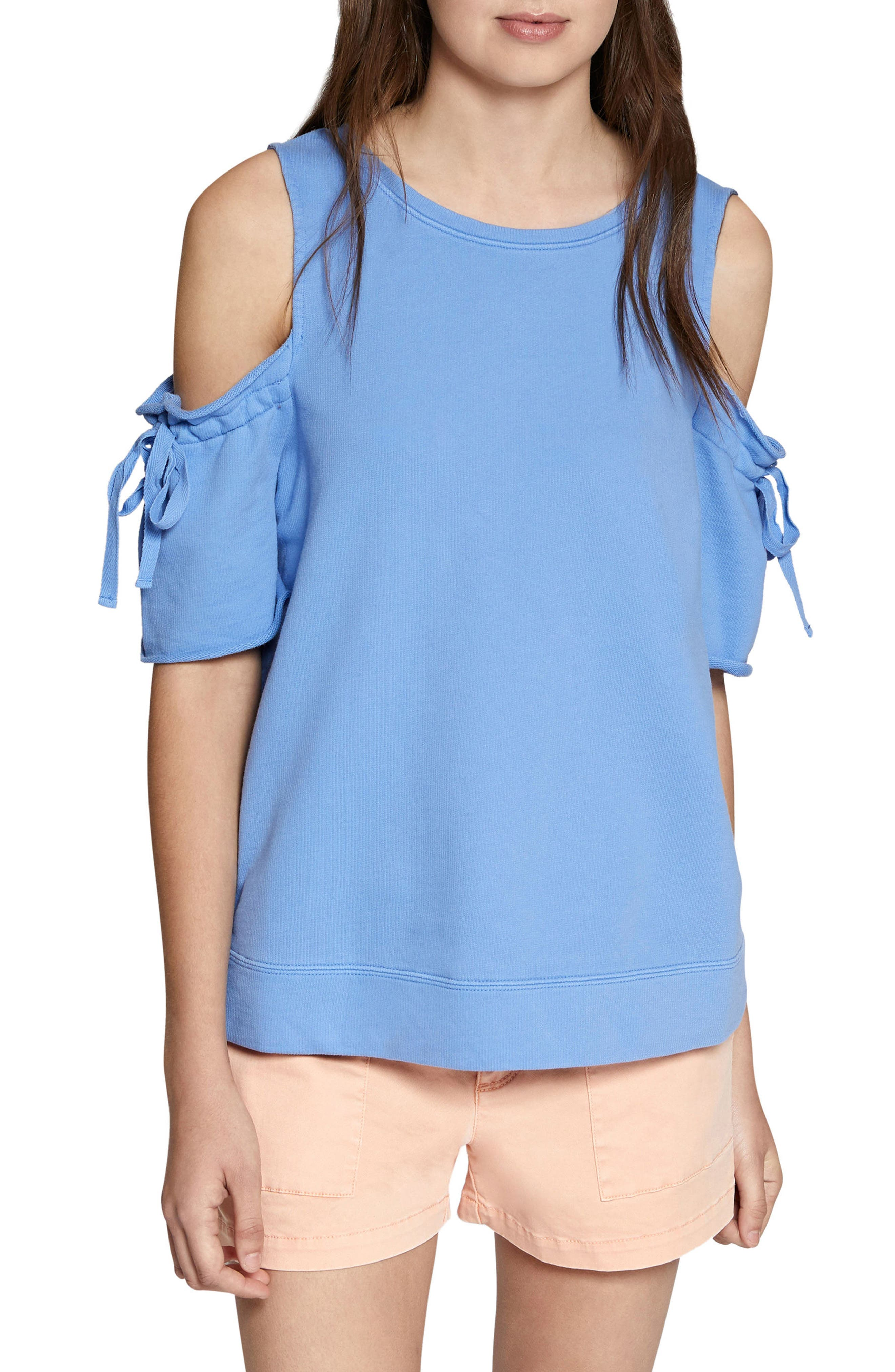 Crosby Cold Shoulder Sweatshirt,                         Main,                         color, Iris