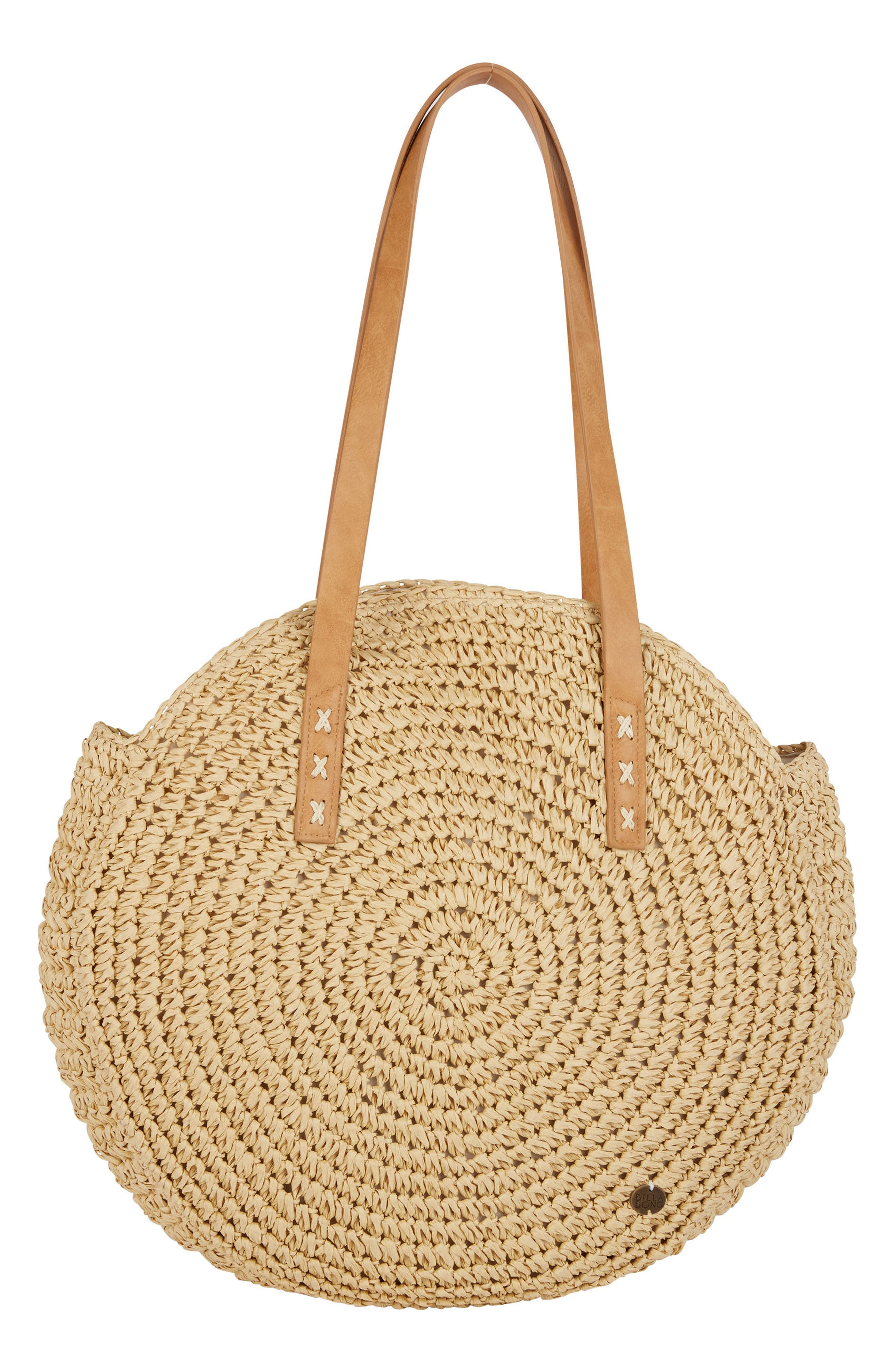 Round About Straw Tote,                             Main thumbnail 1, color,                             Natural