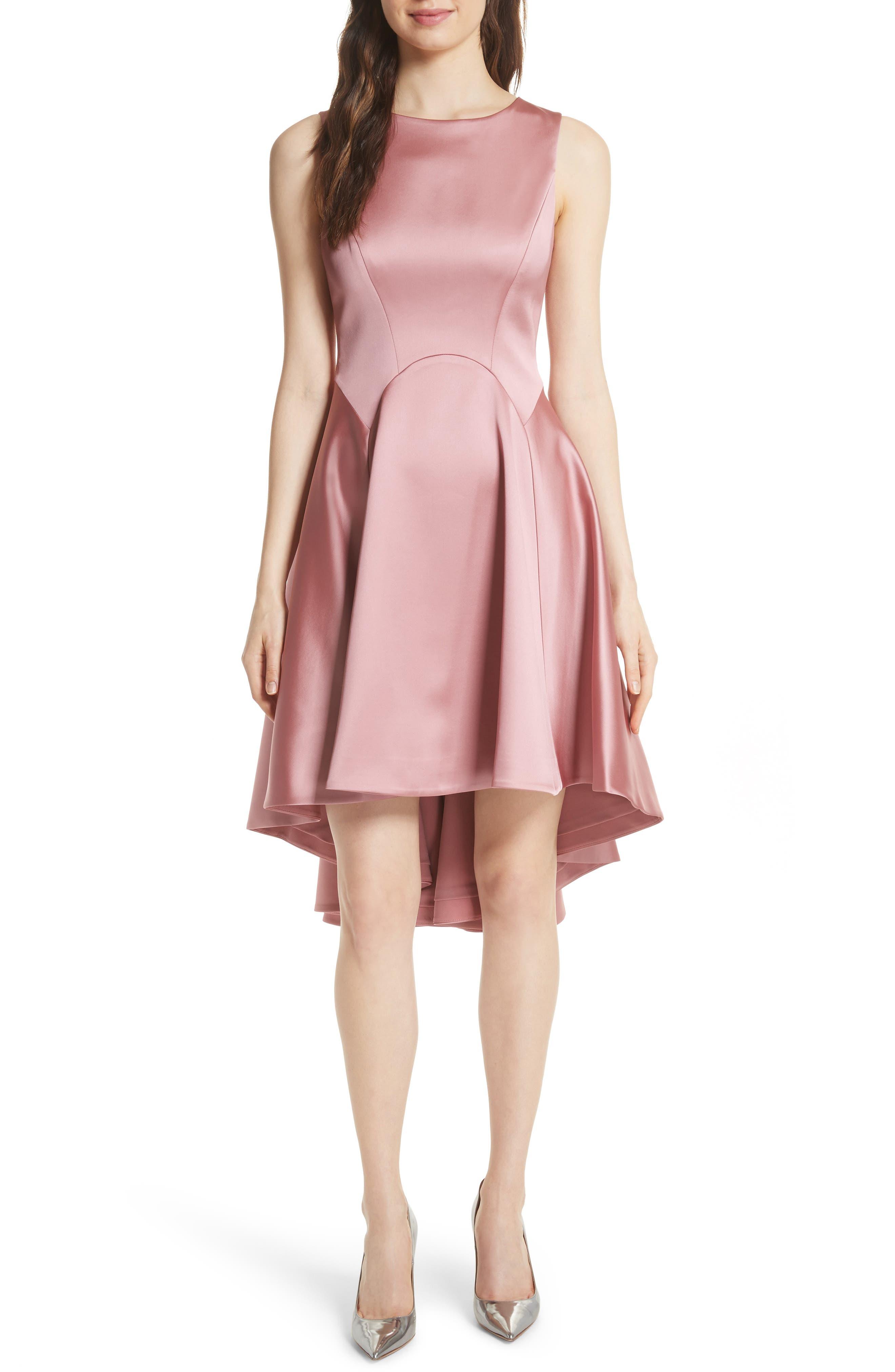 Rhubi High/Low Dress,                         Main,                         color, Pink