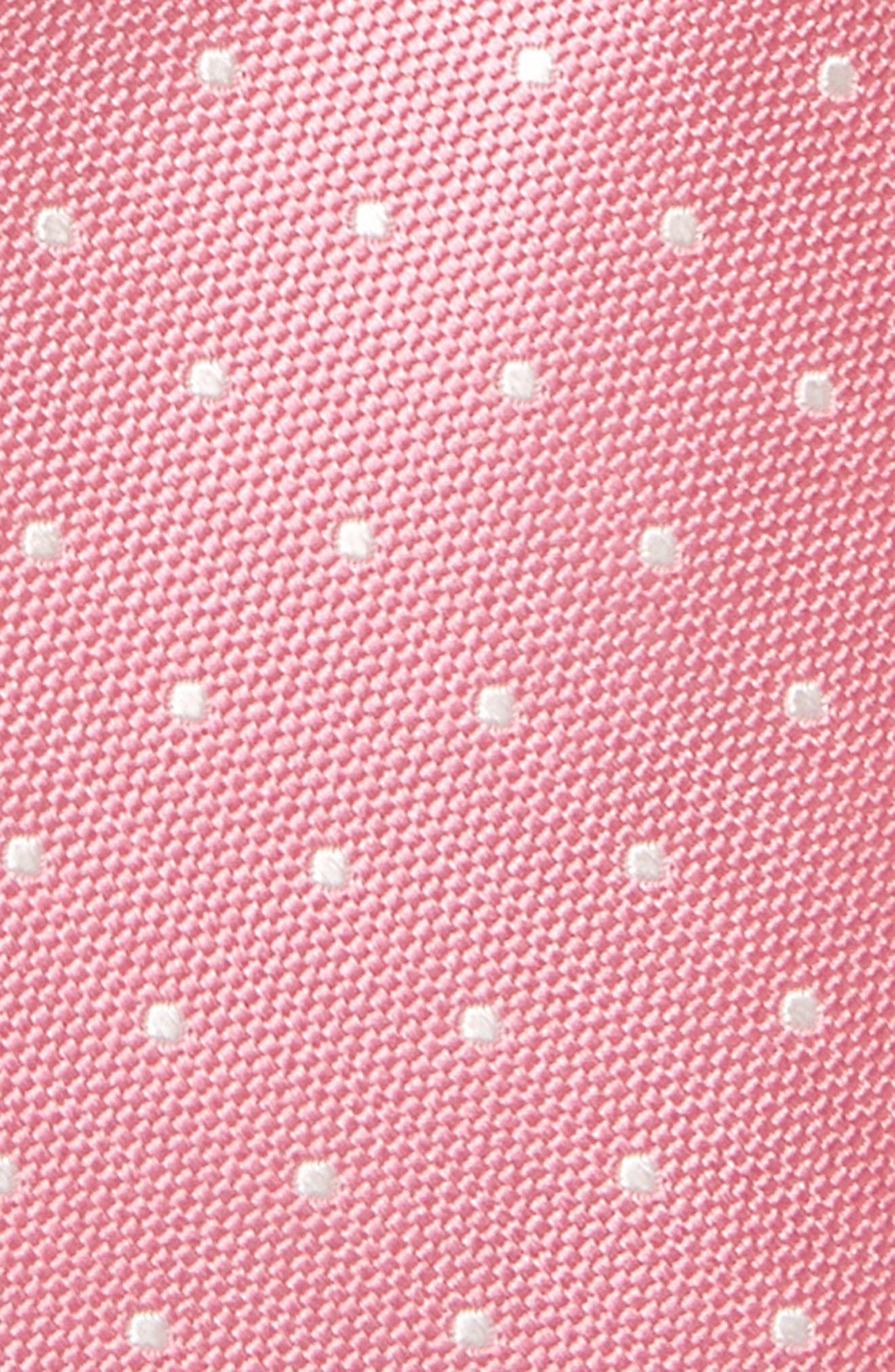 Dainty Dot Silk Tie,                             Alternate thumbnail 2, color,                             Pink