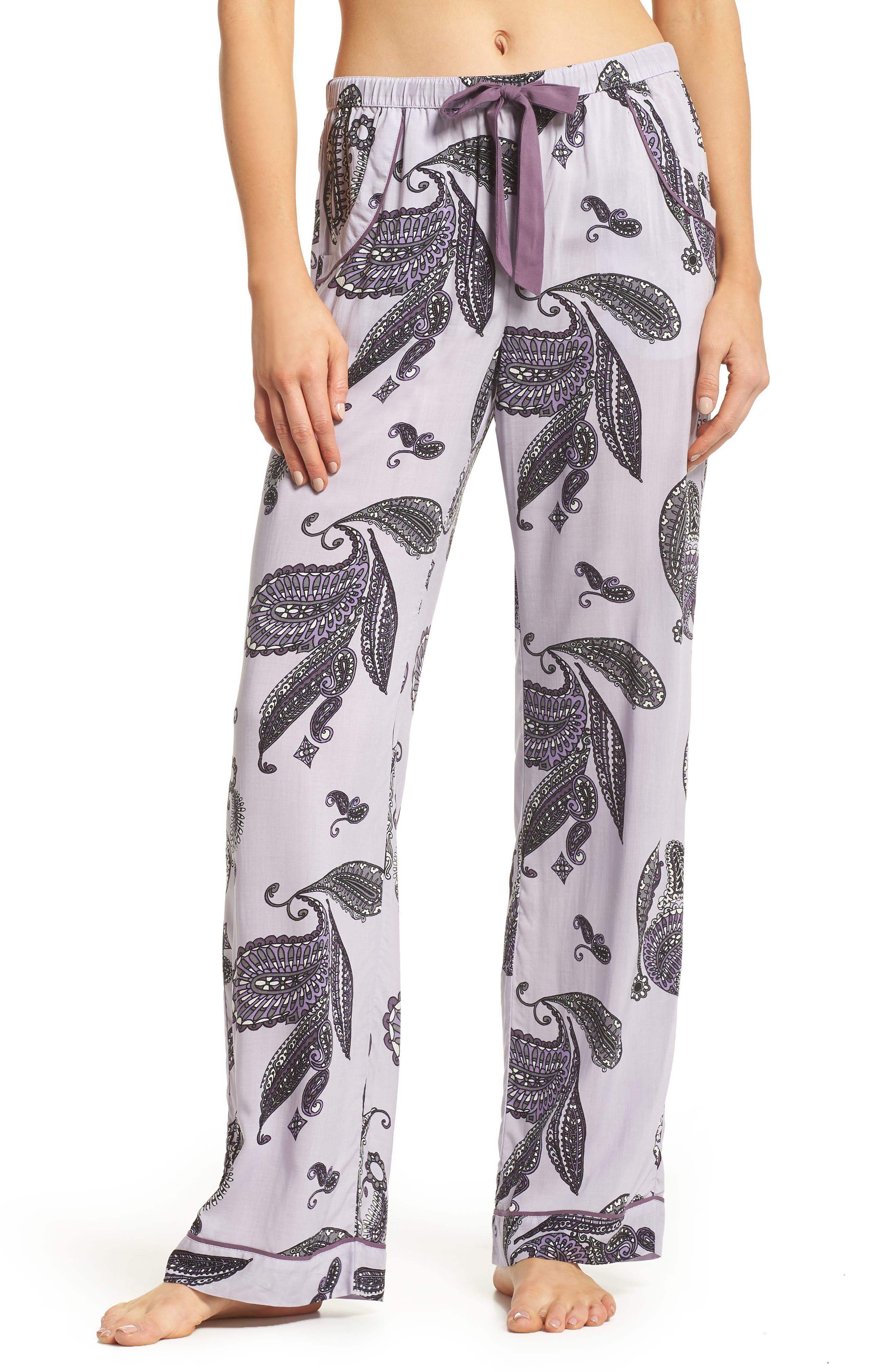 Sweet Dreams Lounge Pants,                             Main thumbnail 1, color,                             Purple Thistle Paisley