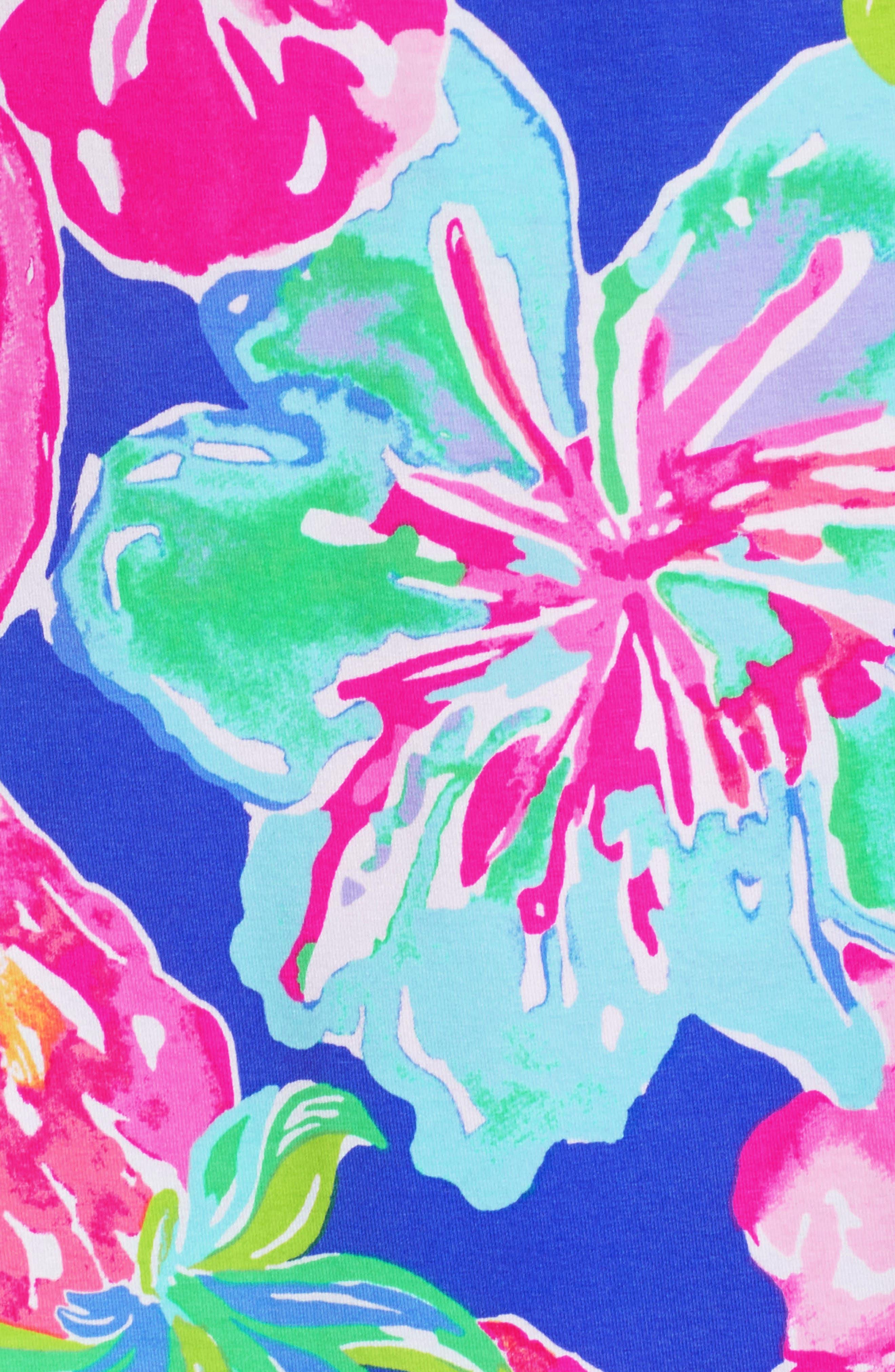 Marvista Wrap Dress,                             Alternate thumbnail 5, color,                             Beckon Blue Jungle Utopia